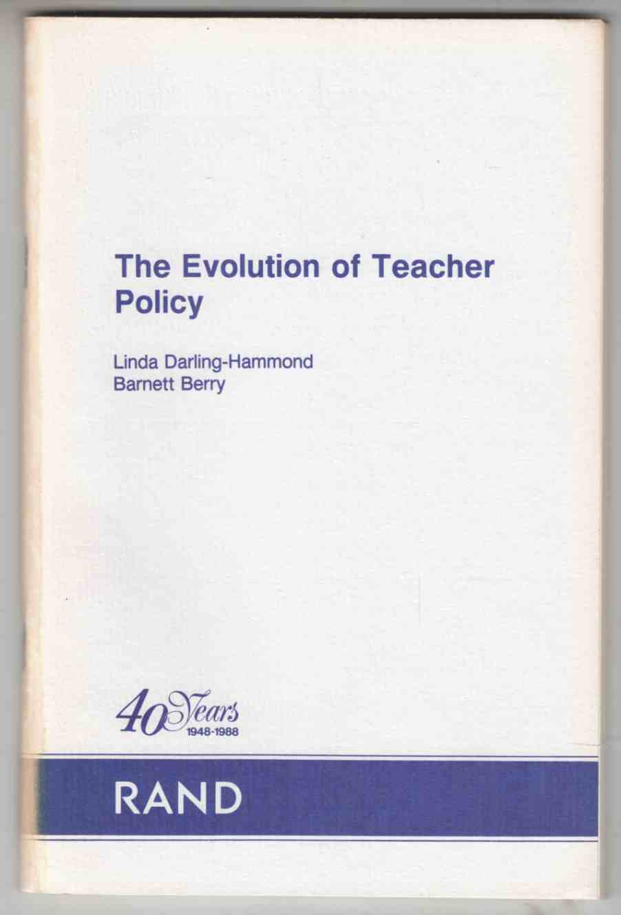 Image for The Evolution of Teacher Policy