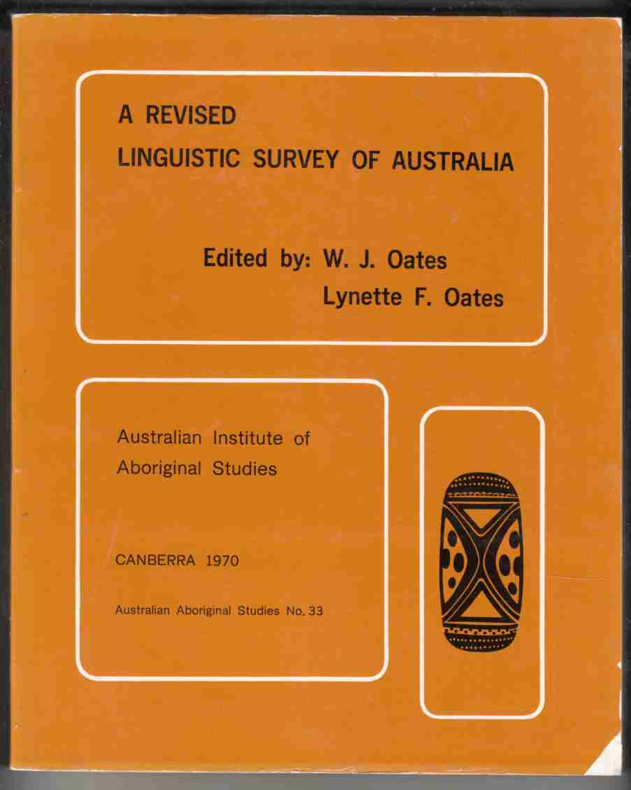 Image for A Revised Linguistic Survey of Australia