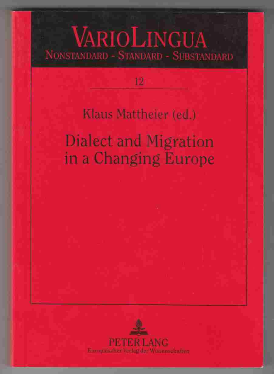 Image for Dialect and Migration in a Changing Europe