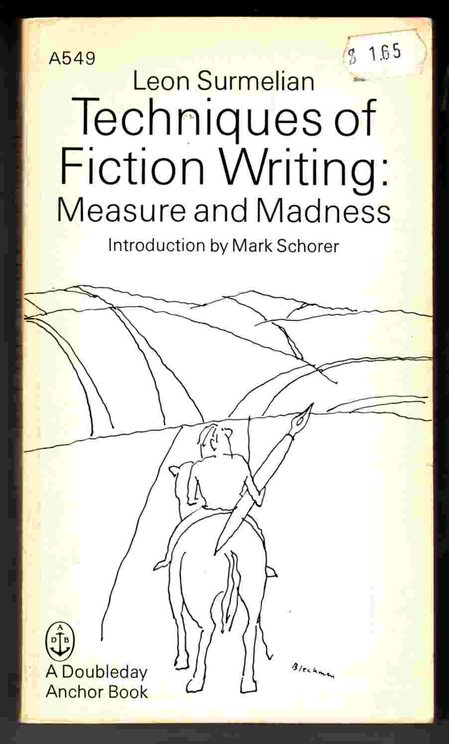 Image for Techniques of Fiction Writing: Measure and Madness