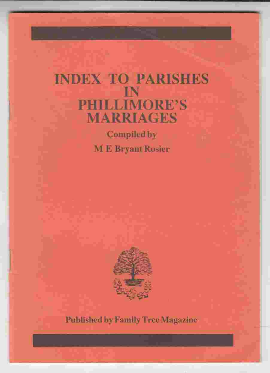 Image for Index to Parishes in Phillimore's Marriages
