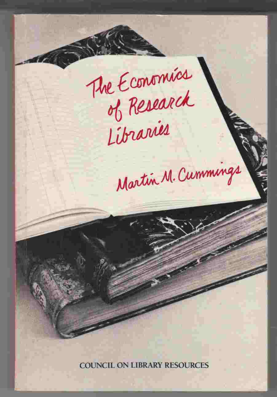 Image for The Economics of Research Libraries