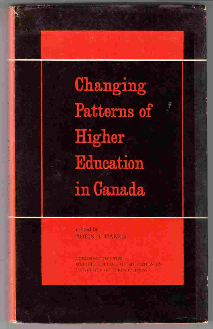 Image for Changing Patterns of Higher Education in Canada