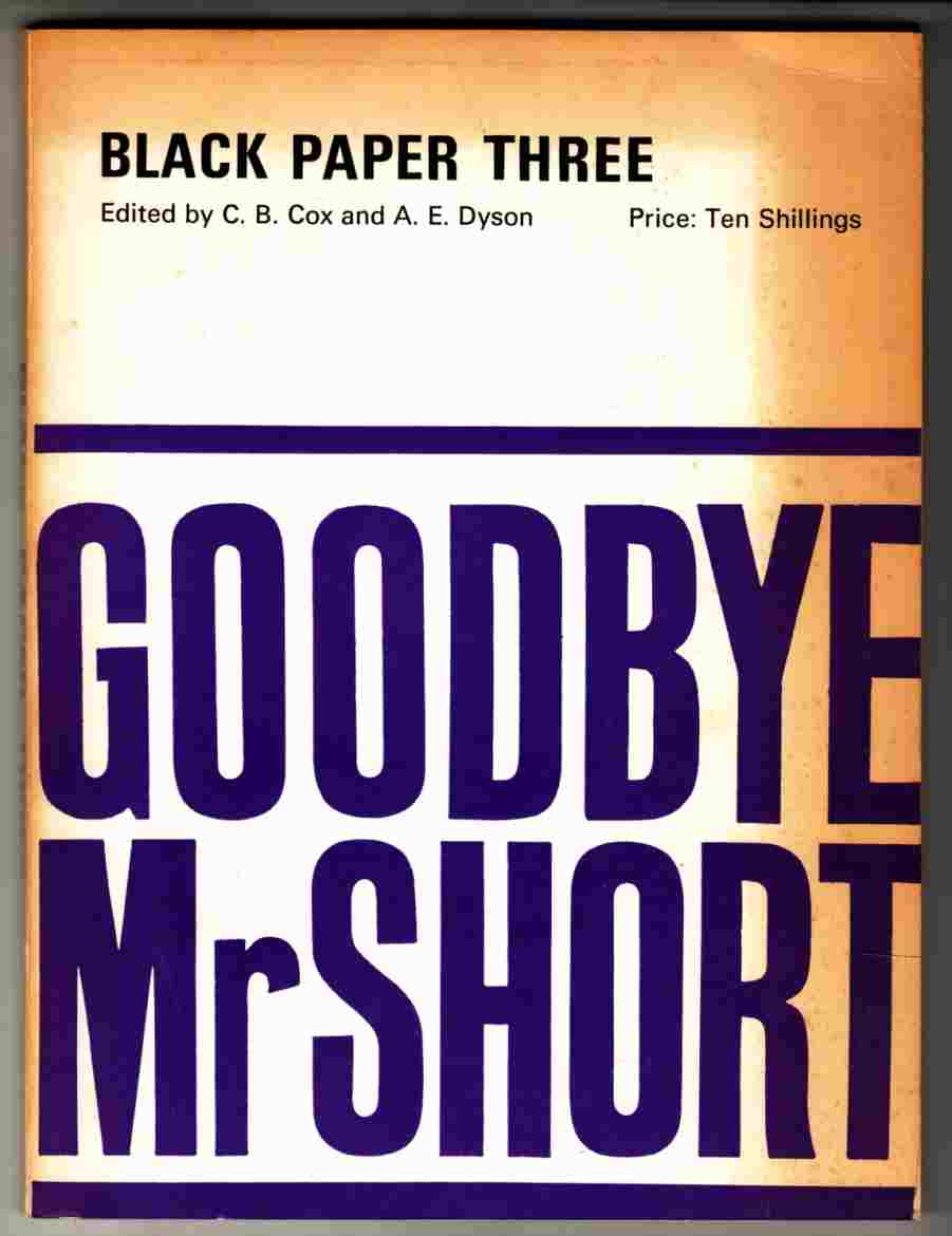 Image for Goodbye Mr. Short Black Paper Three