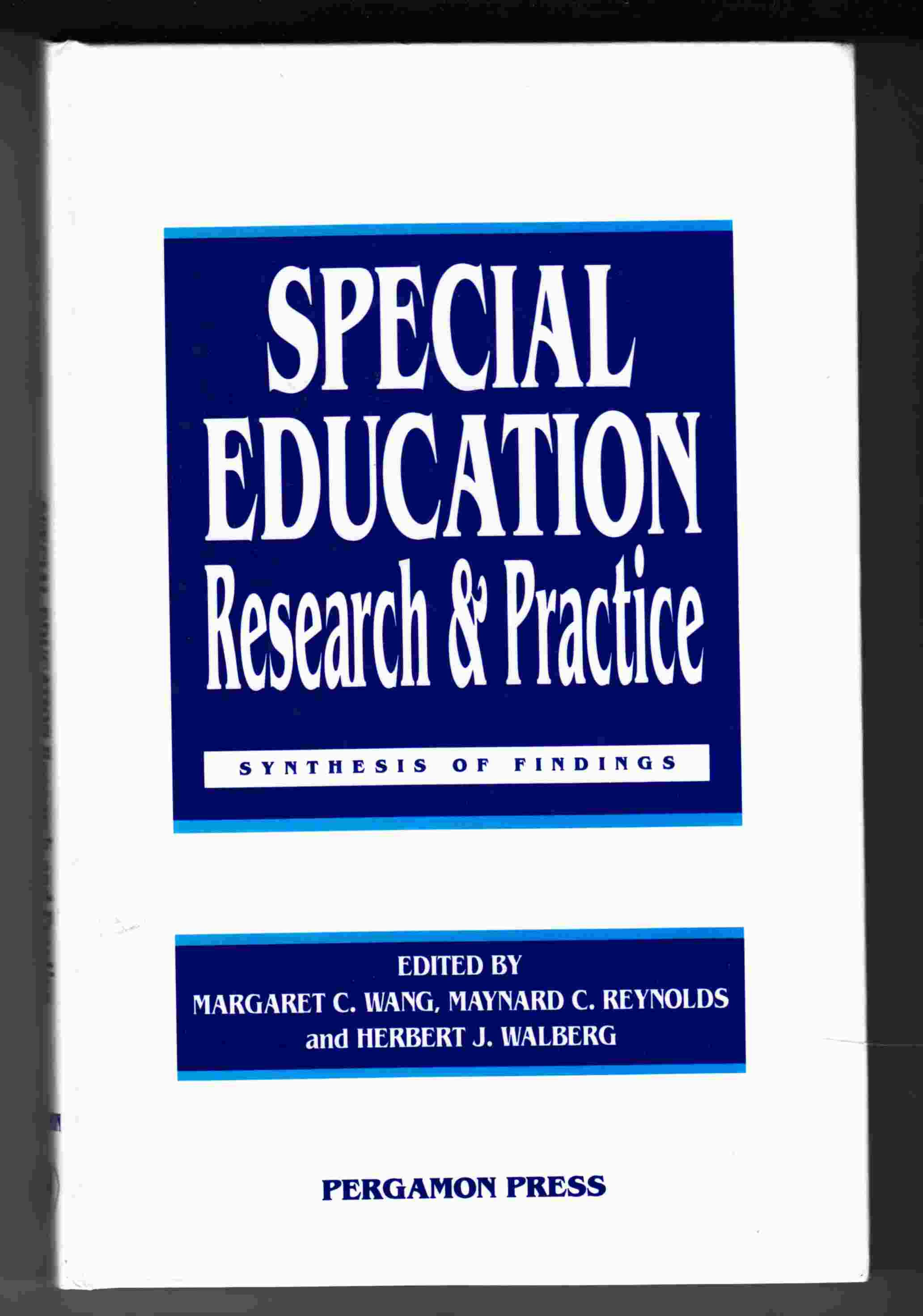 Image for Special Education: Research and Practice: Synthesis of Findings