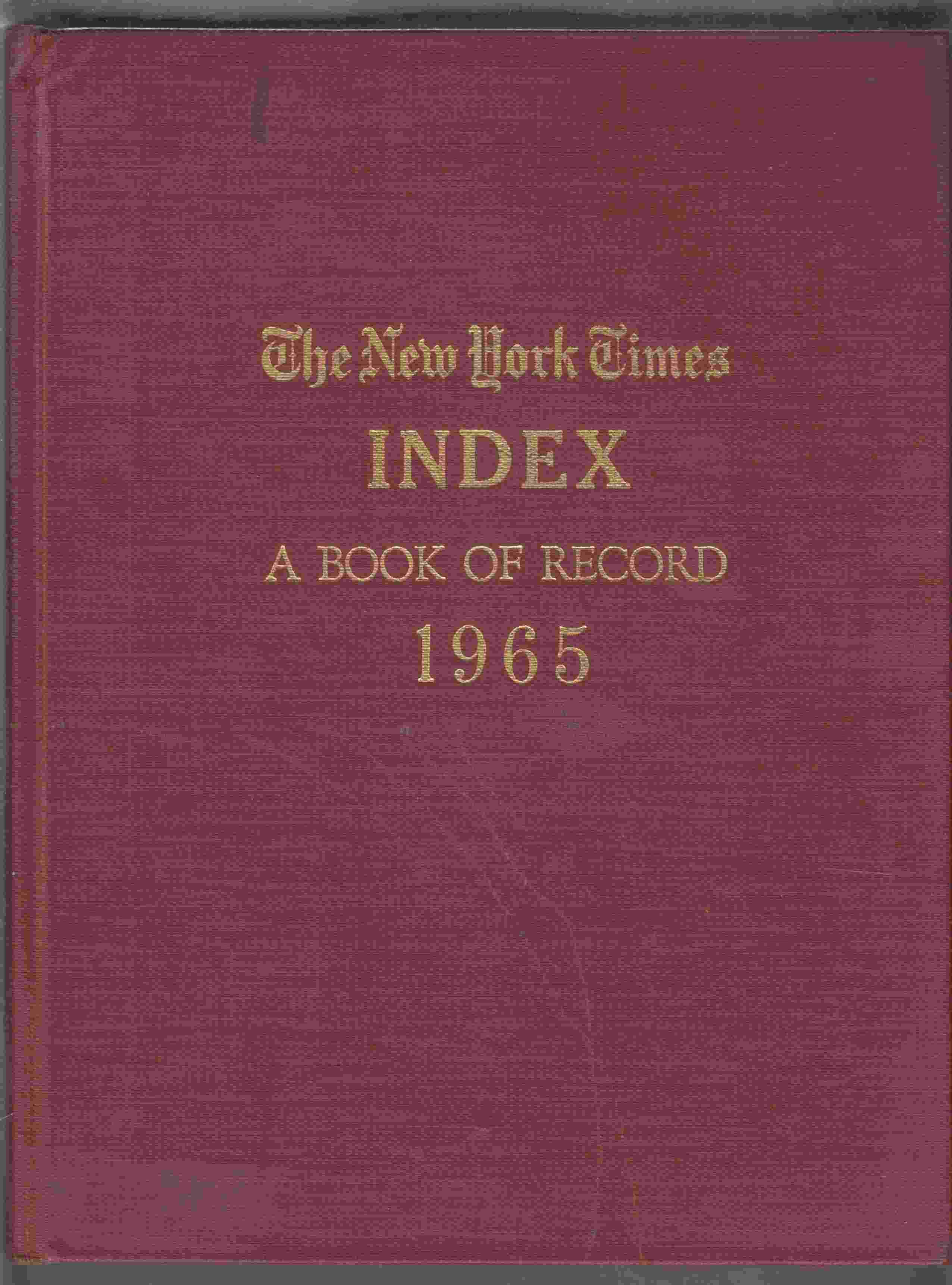 Image for The New York Times Index 1965