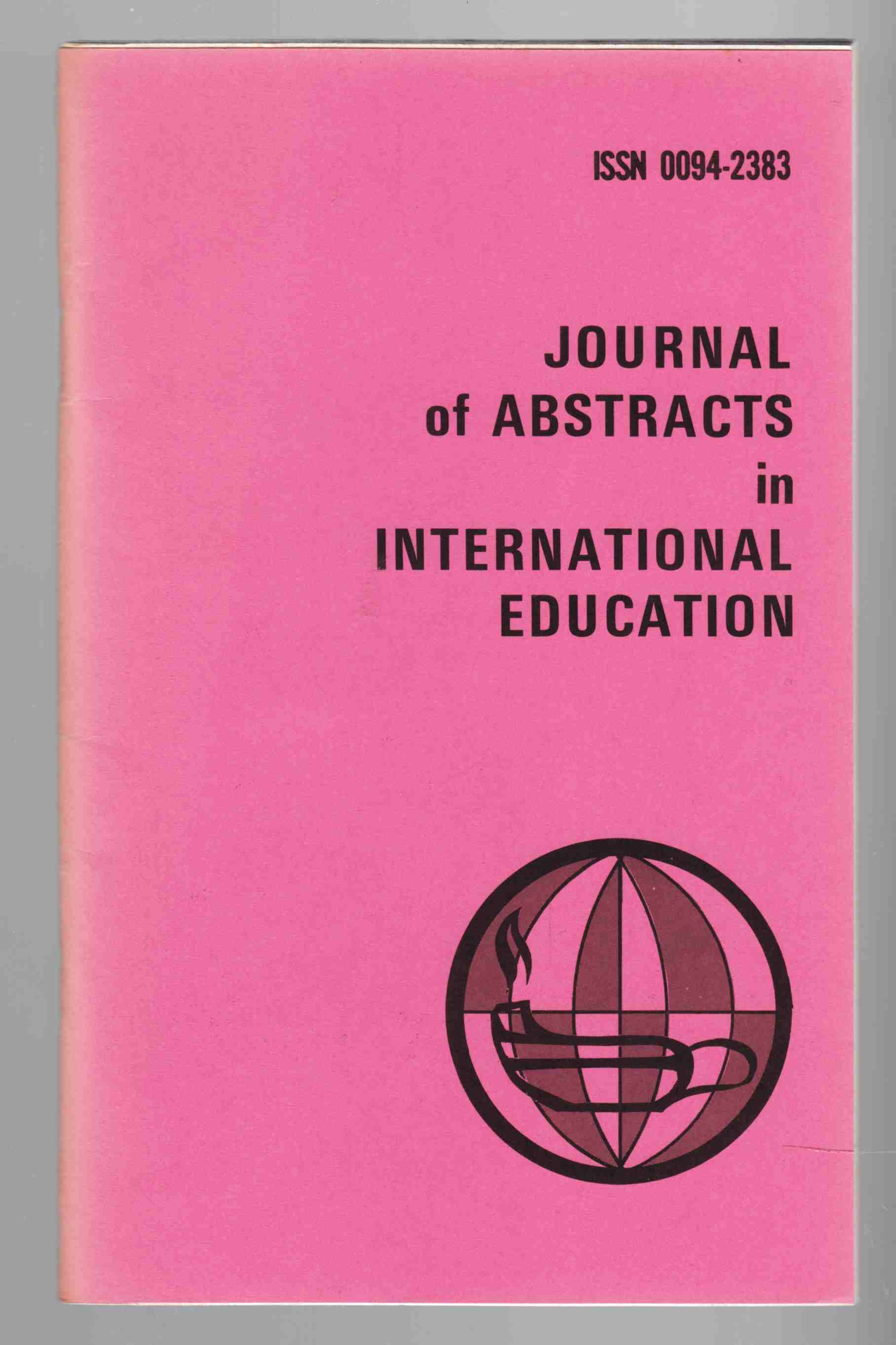 Image for Journal of Abstracts in International Education Vol. 8 No. 2 Spring / Summer 1979