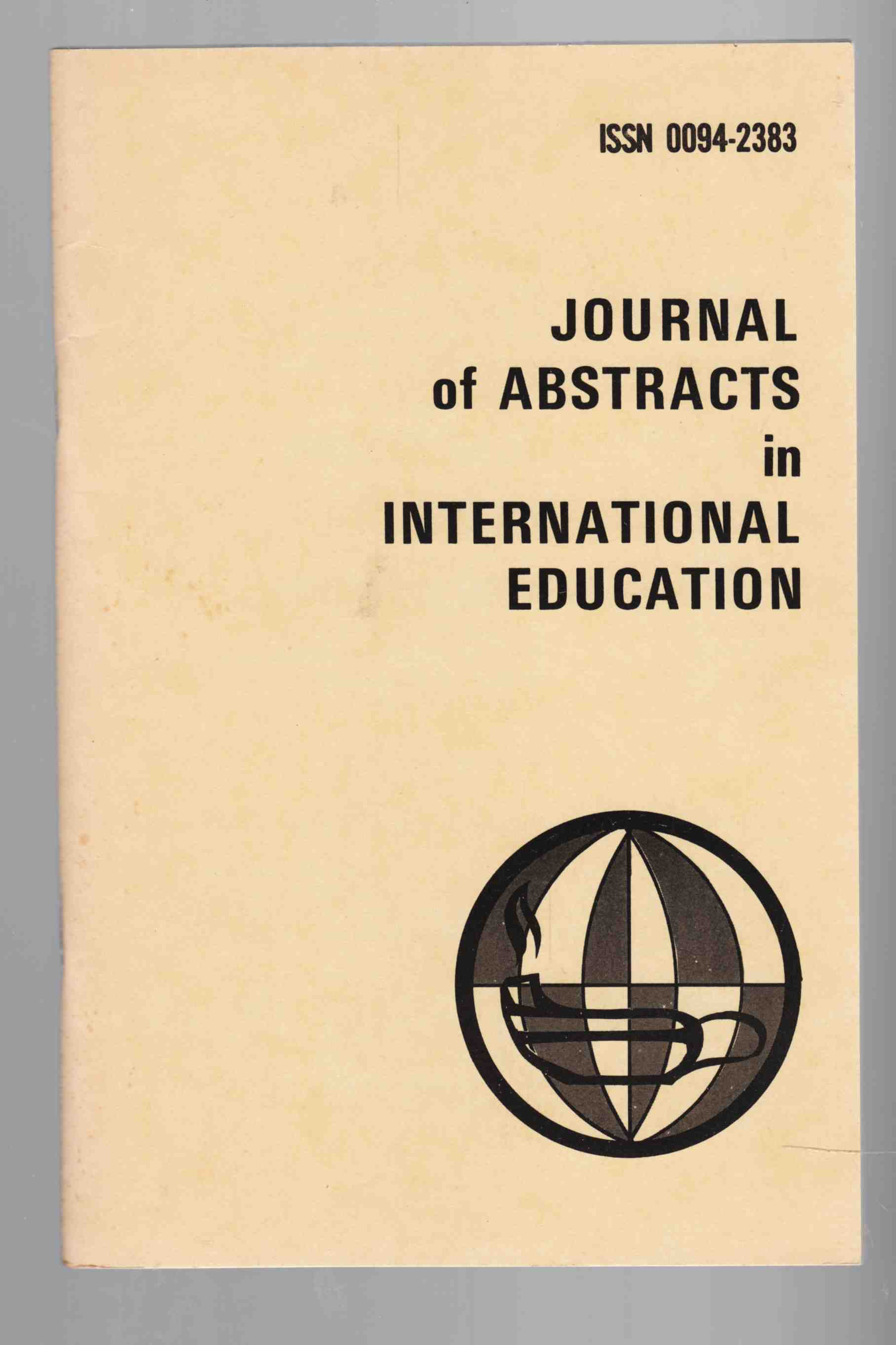 Image for Journal of Abstracts in International Education Vol. 7 No. 1 Fall / Winter 1978