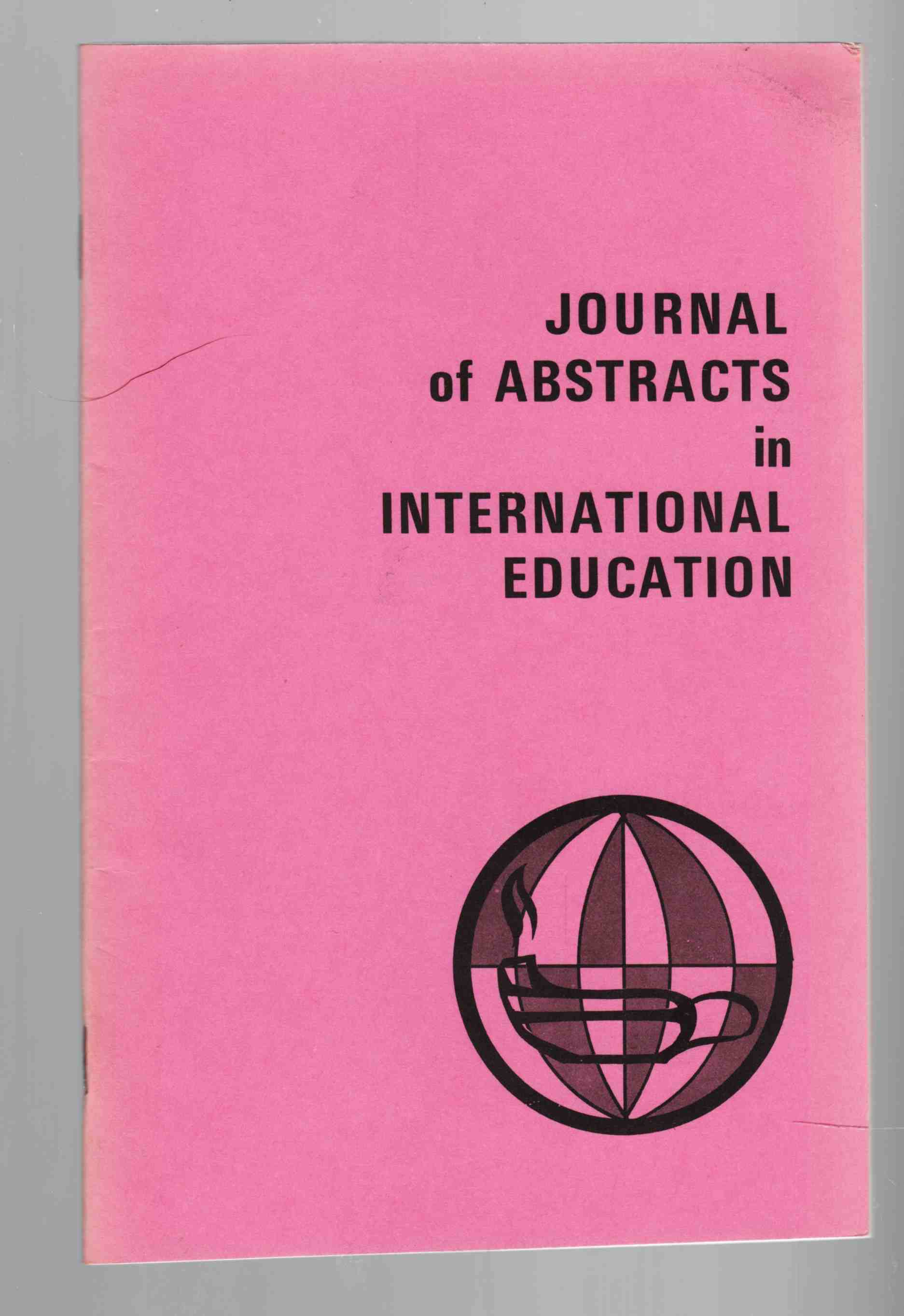 Image for Journal of Abstracts in International Education Vol. 4 No. 1 Fall / Winter 1973-1974