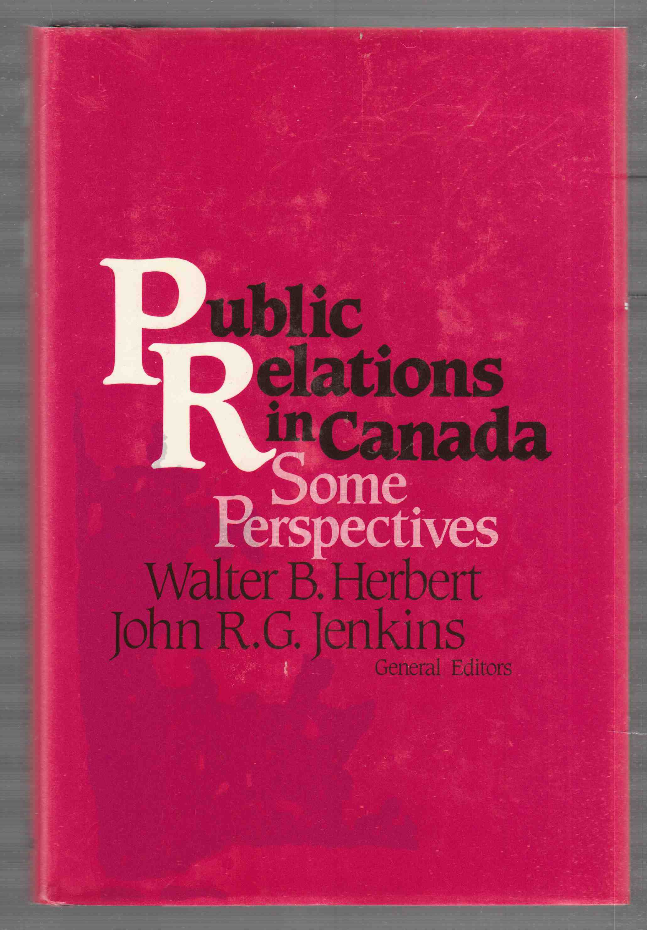 Image for Public Relations in Canada Some Perspectives