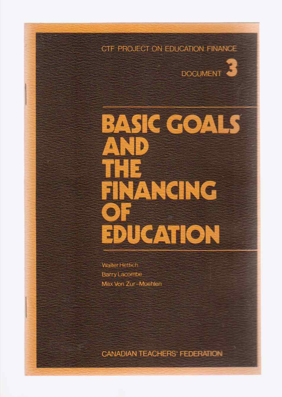 Image for Basic Goals and the Financing of Education