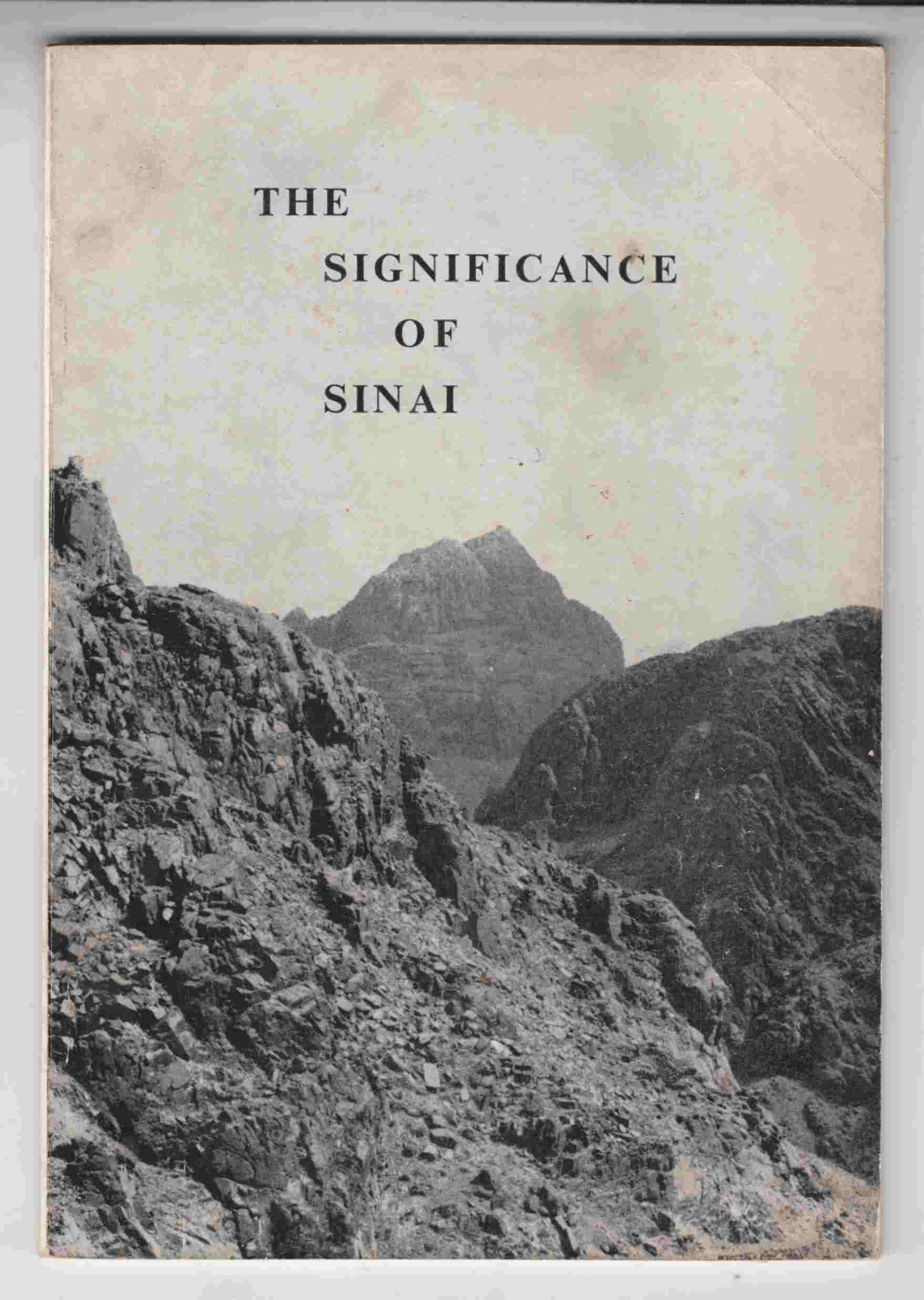 Image for The Significance of Sinai