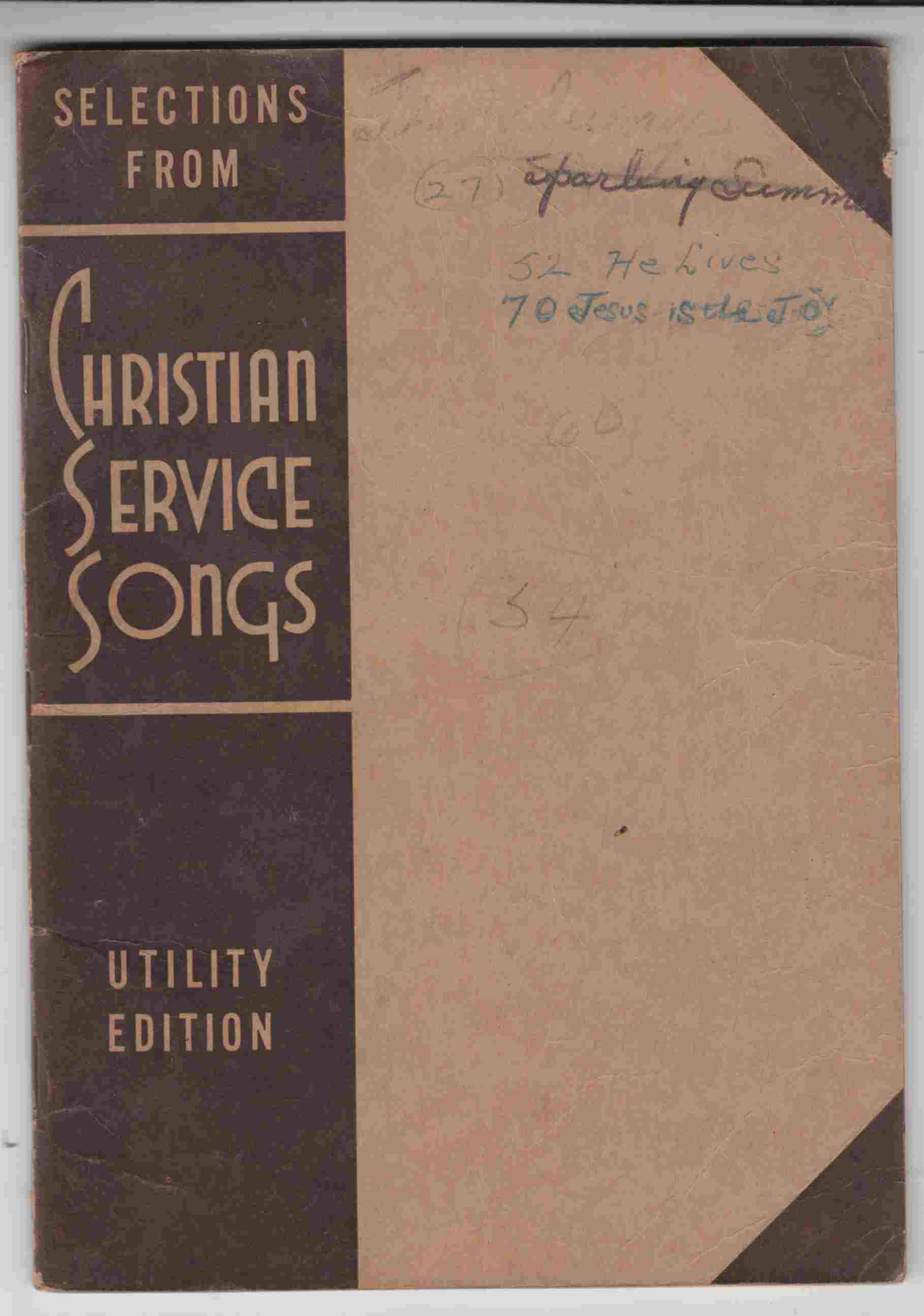 Image for Selections from Christian Service Songs - Utility Edition
