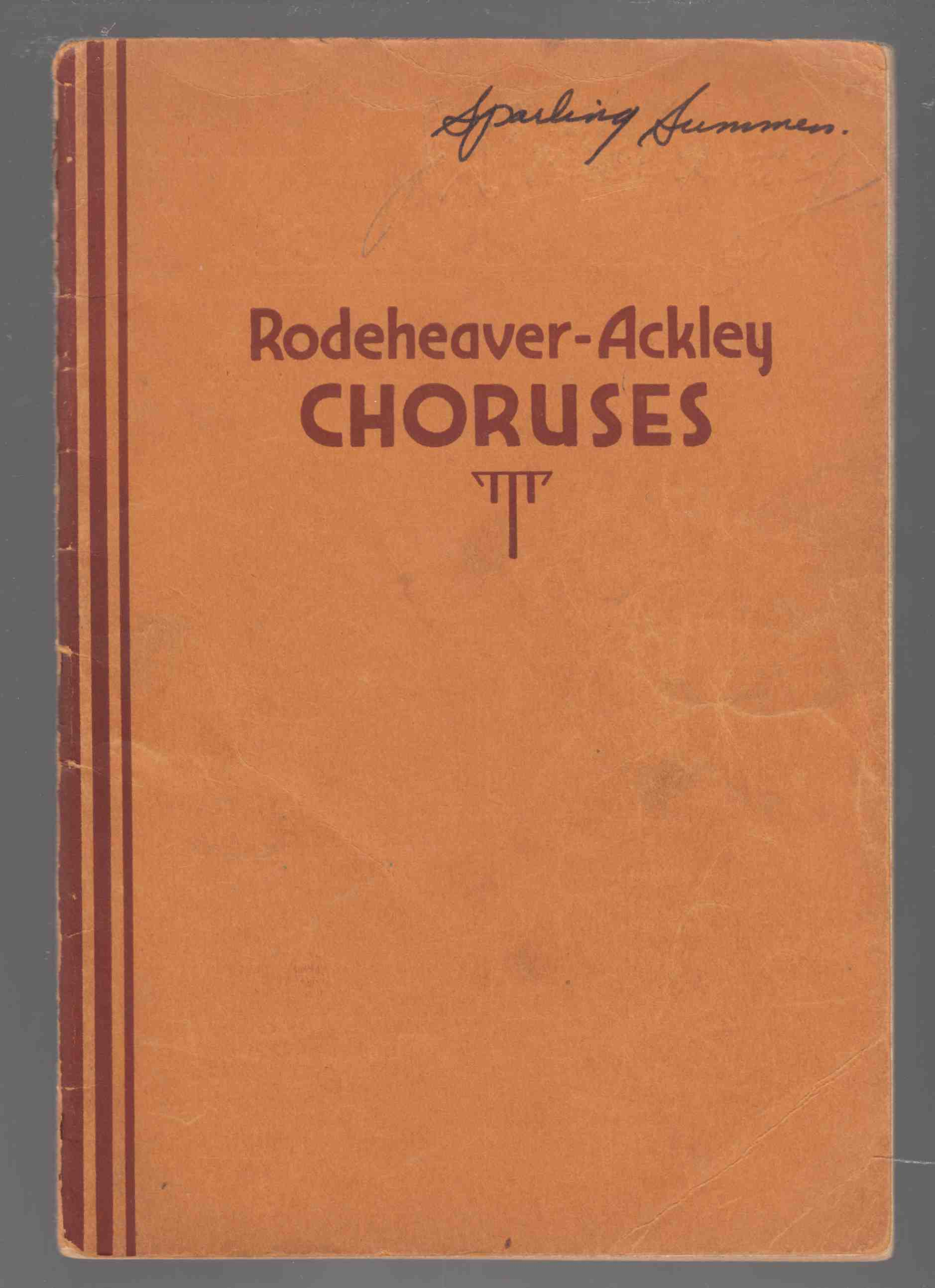 Image for Rodeheaver-Ackley Choruses