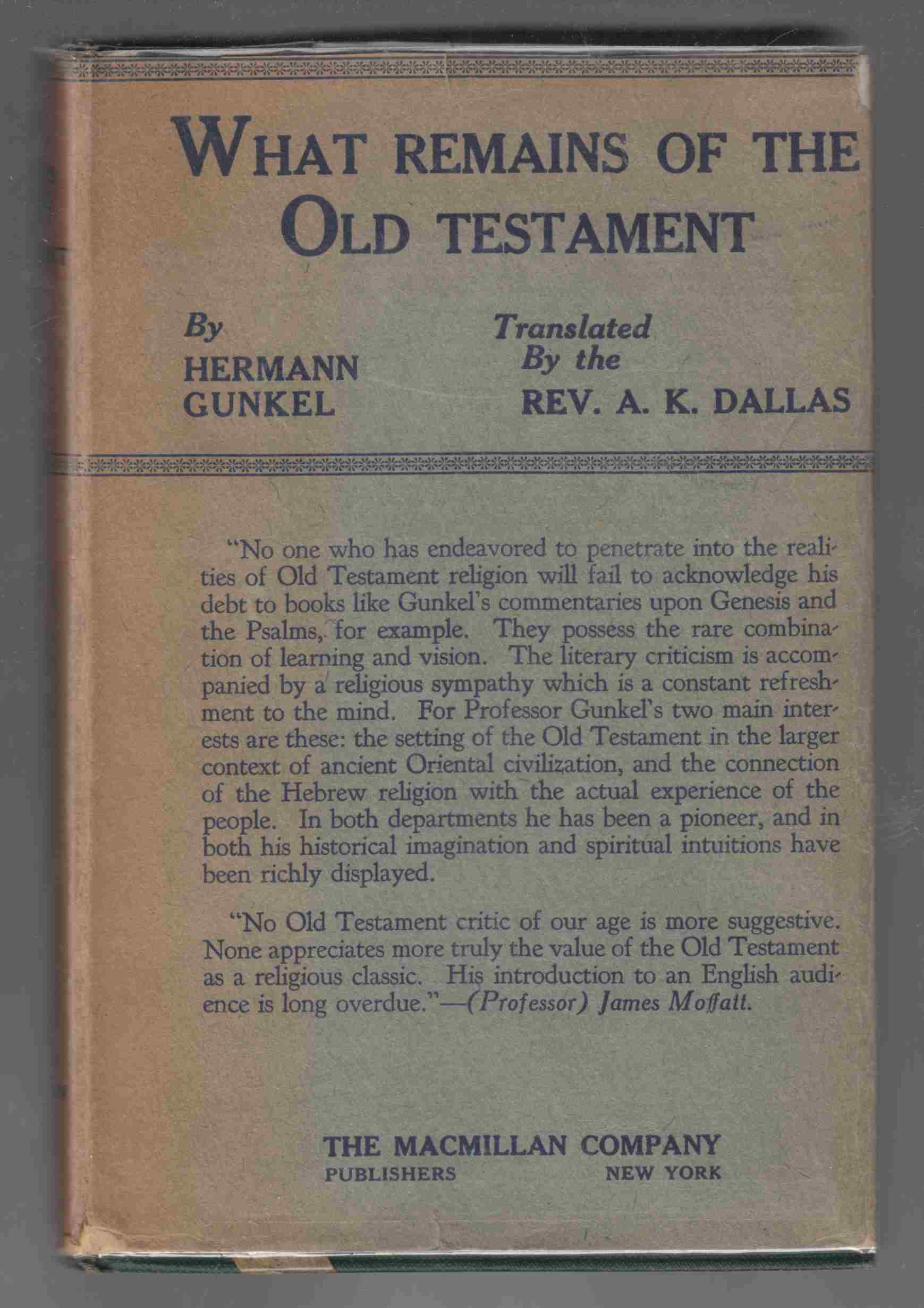 Image for What Remains of the Old Testament and Other Essays