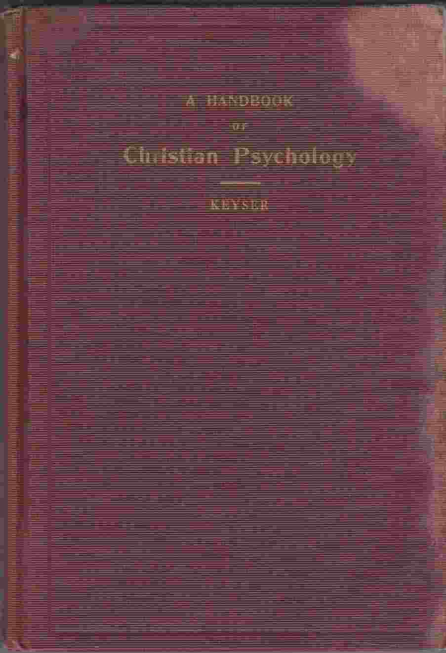 Image for A Handbook of Christian Psychology