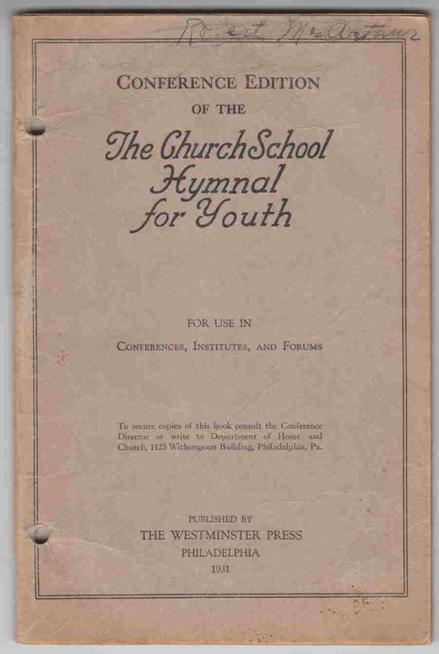 Image for The Church School Hymnal for Youth Conference Edition