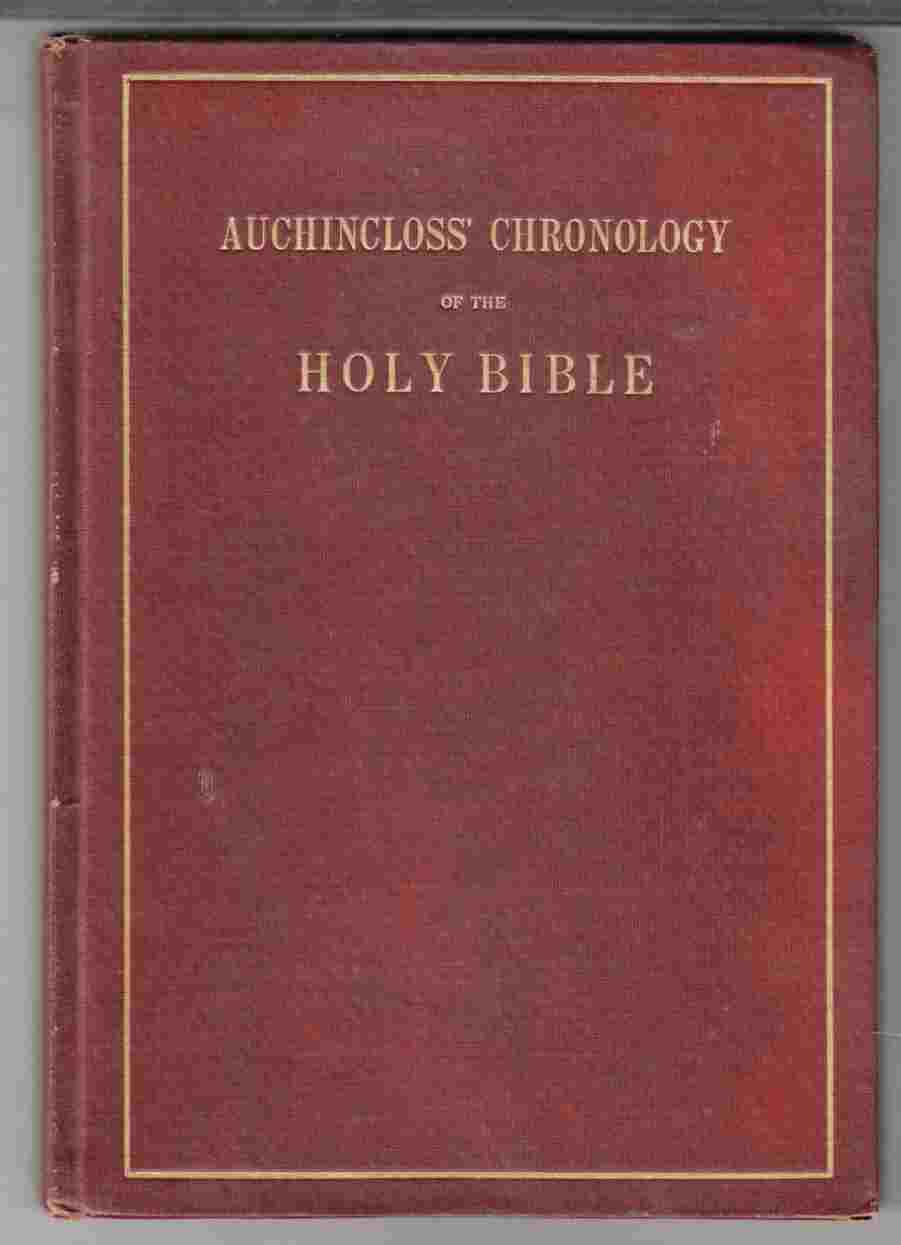 Image for Auchincloss' Chronology of the Holy Bible