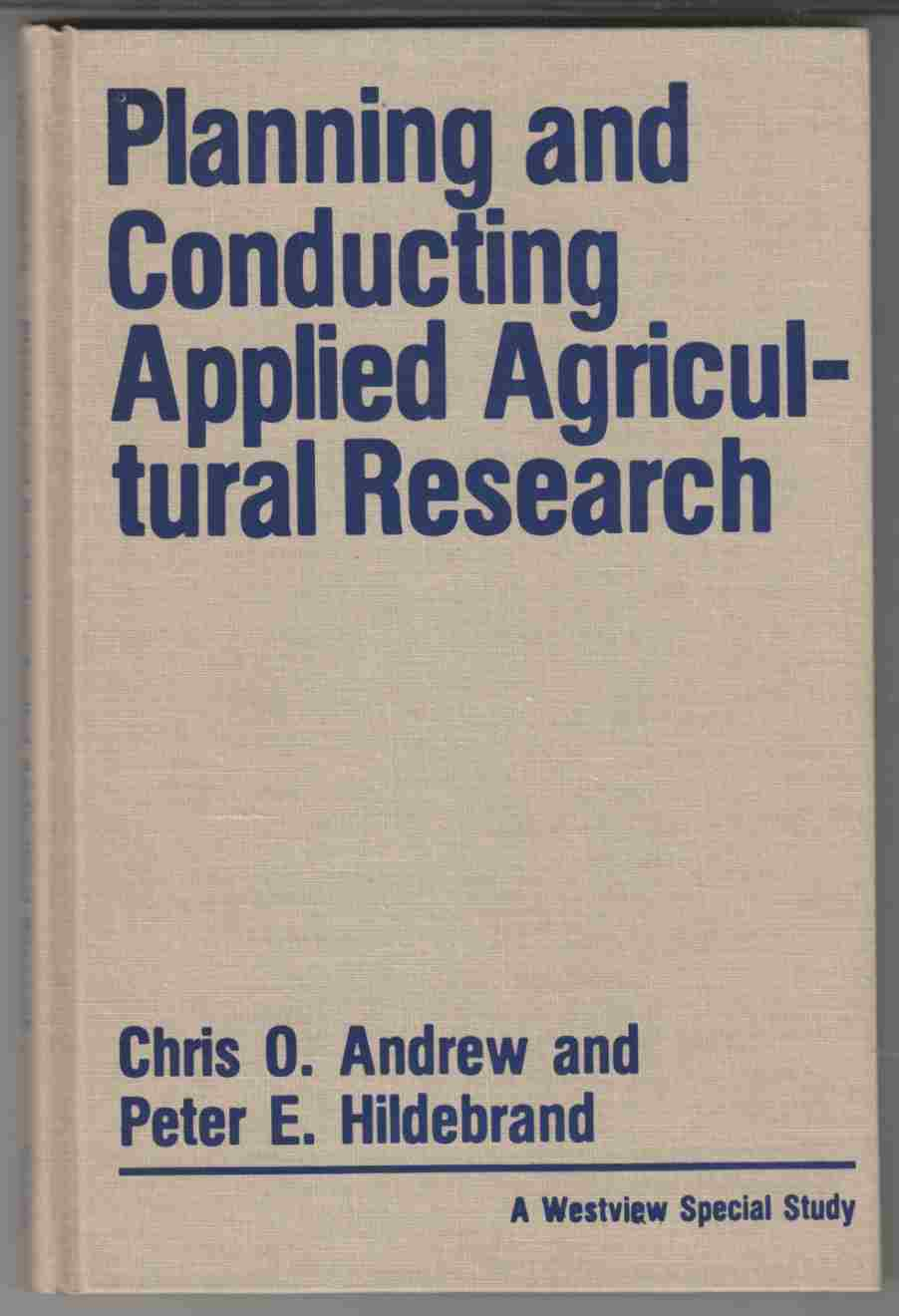 Image for Planning and Conducting Applied Agricultural Research
