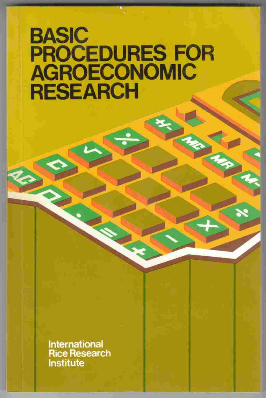 Image for Basic Procedures for Agroeconomic Research