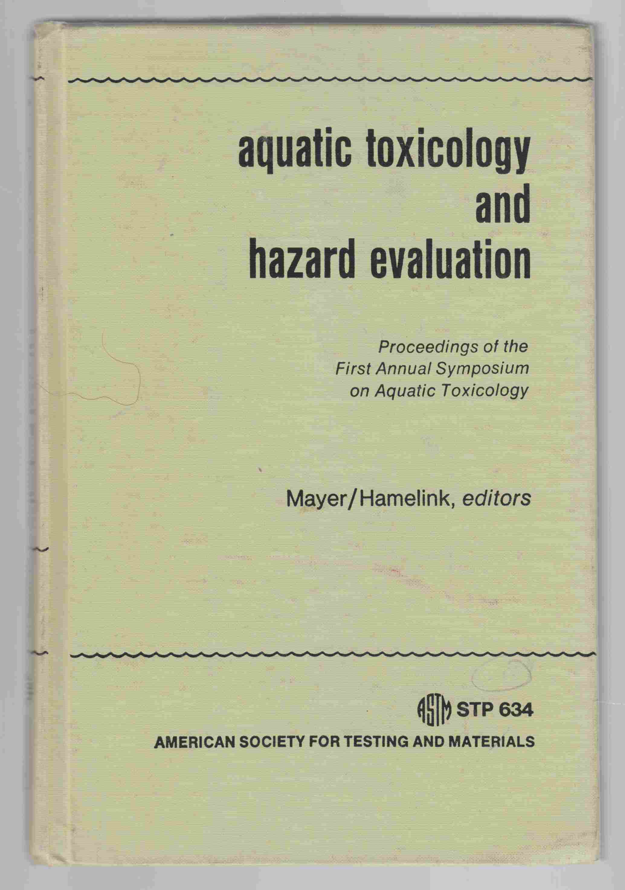 Image for Aquatic Toxicology and Hazard Evaluation