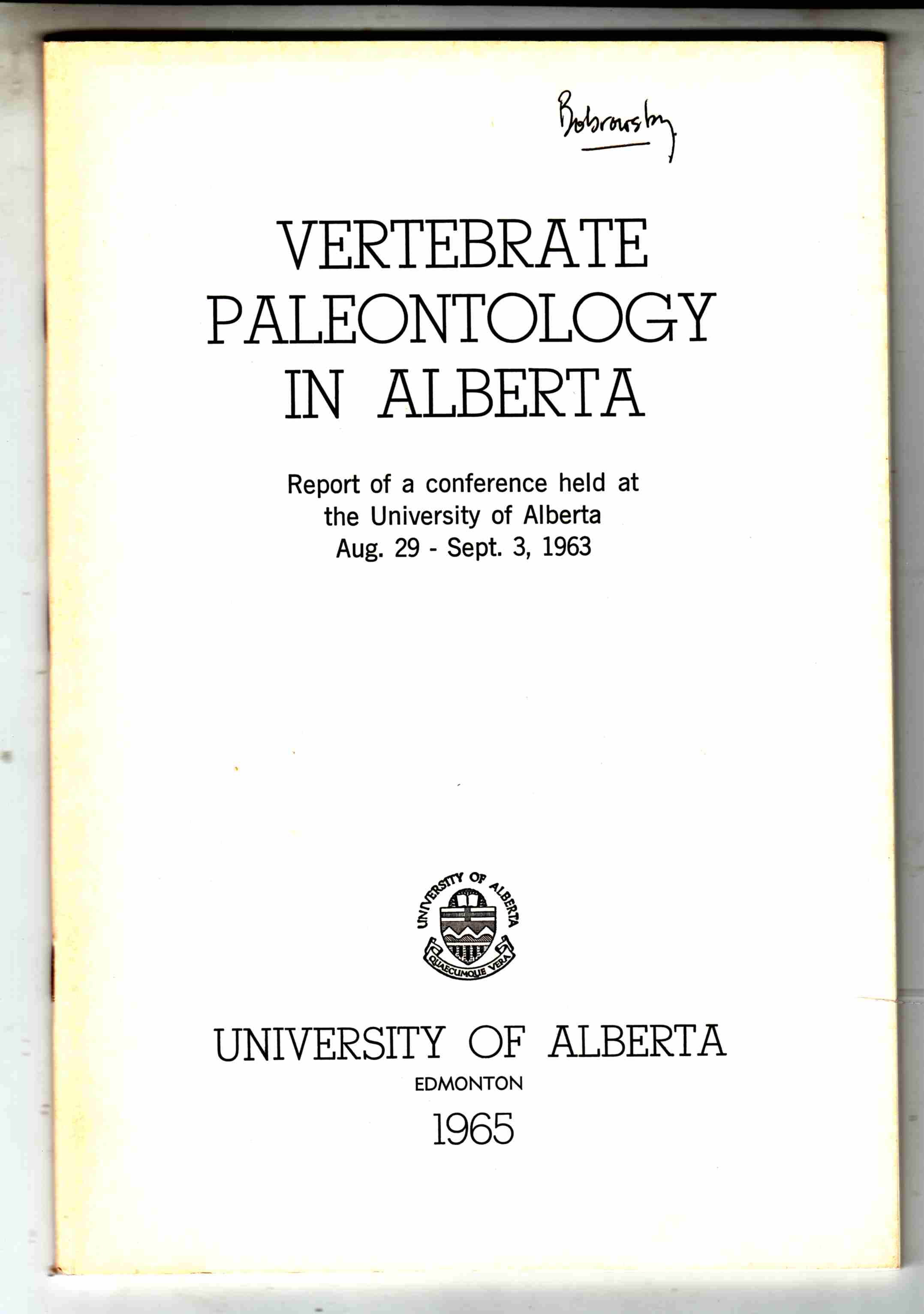 Image for Vertebrate Paleontology in Alberta