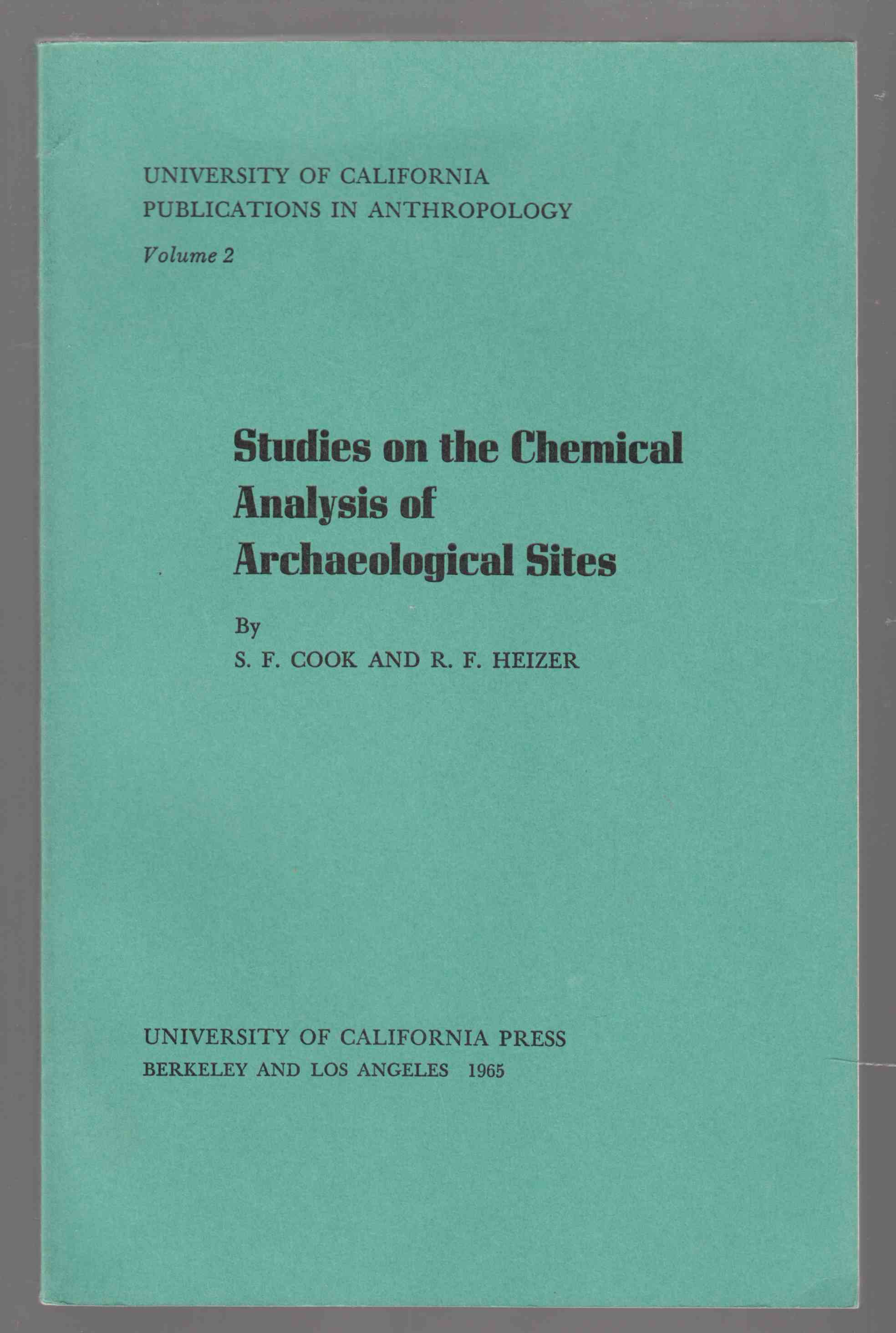 Image for Studies on the Chemical Analysis of Archaeological Sites