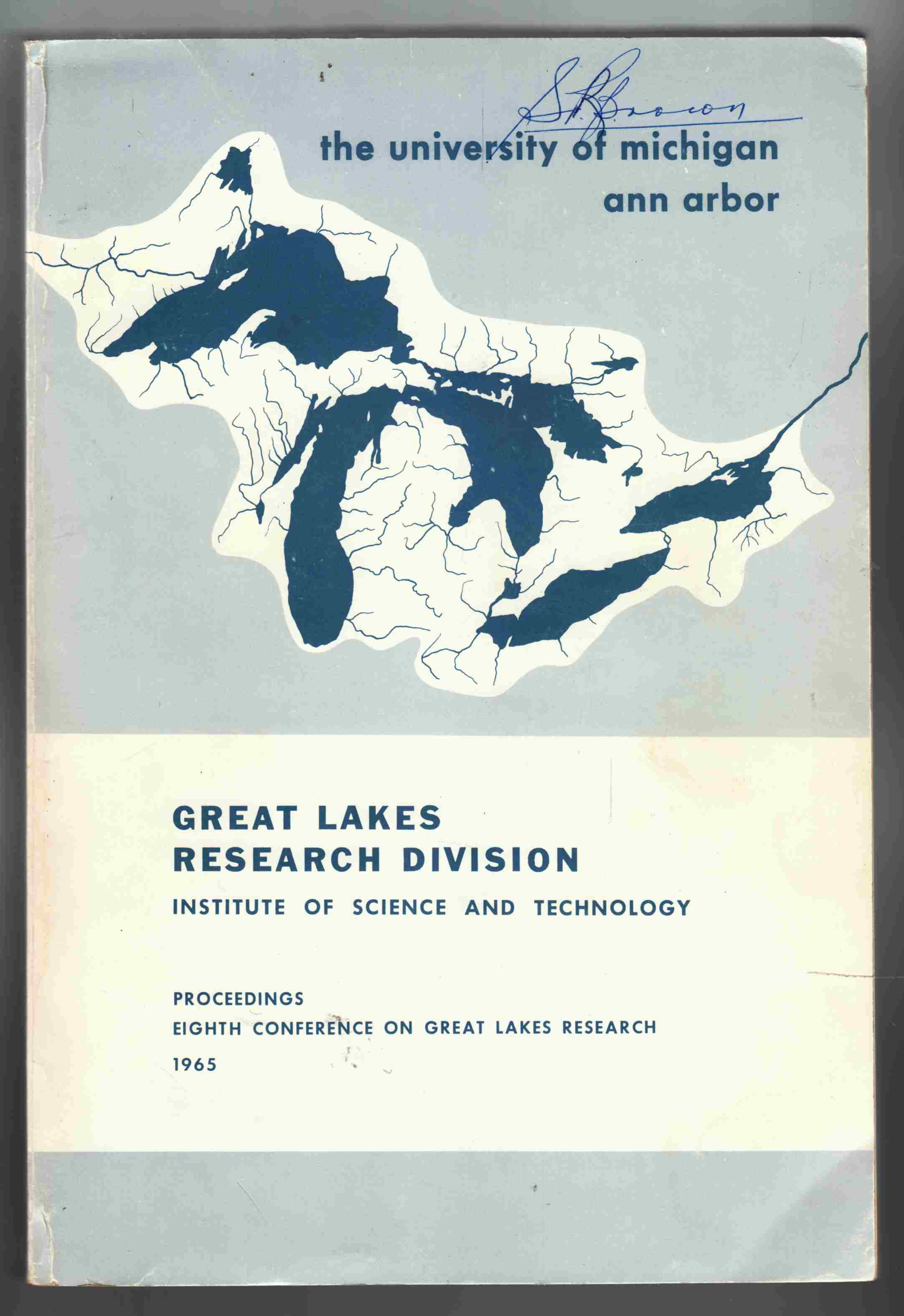 Image for Proceedings Eighth Conference on Great Lakes Research