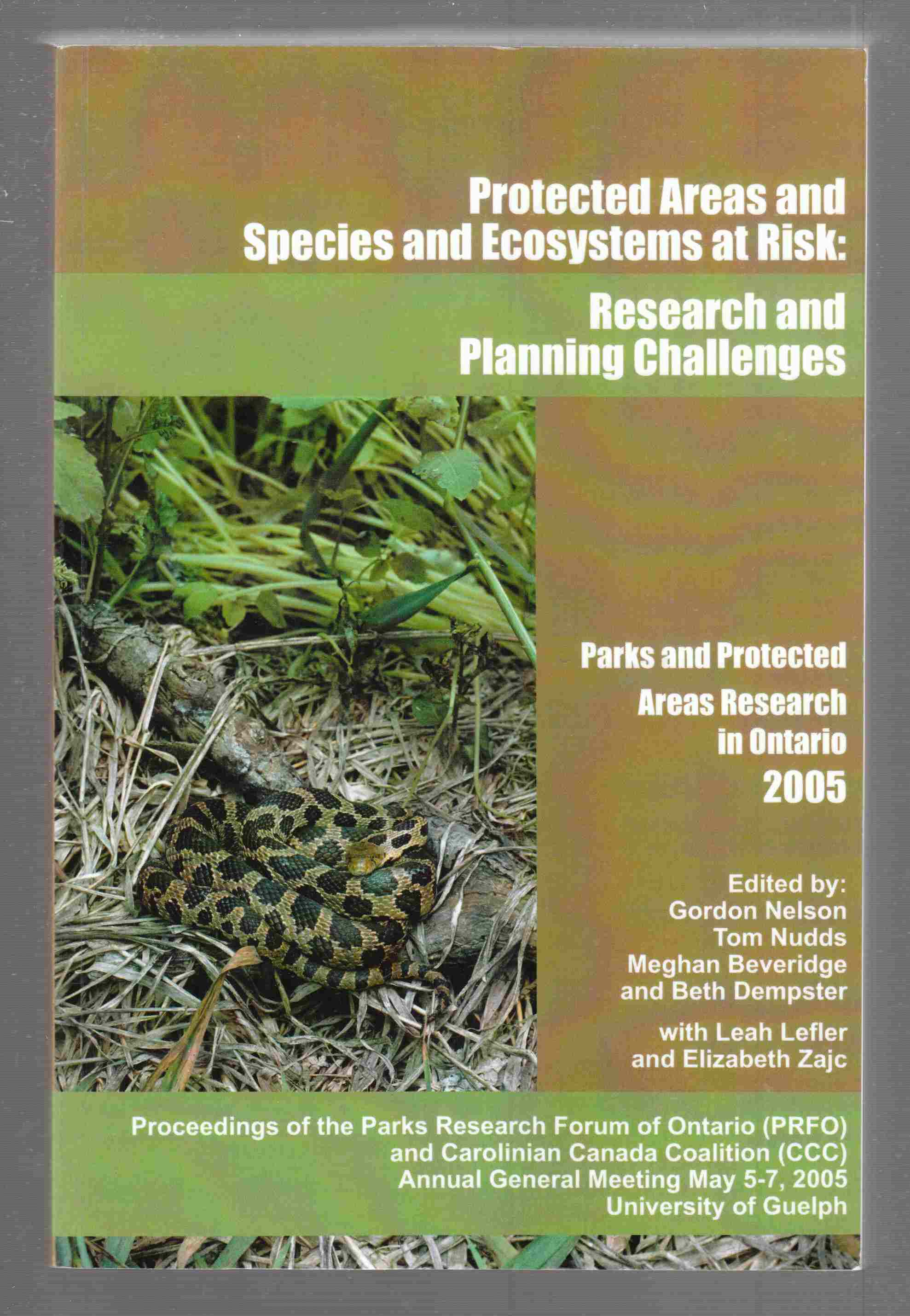 Image for Protected Areas and And Species and Ecosystems At Risk: Research and Planning Challenges