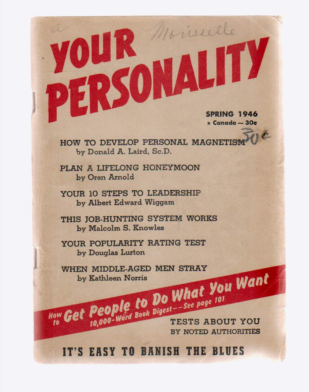 Image for Your Personality Spring 1946