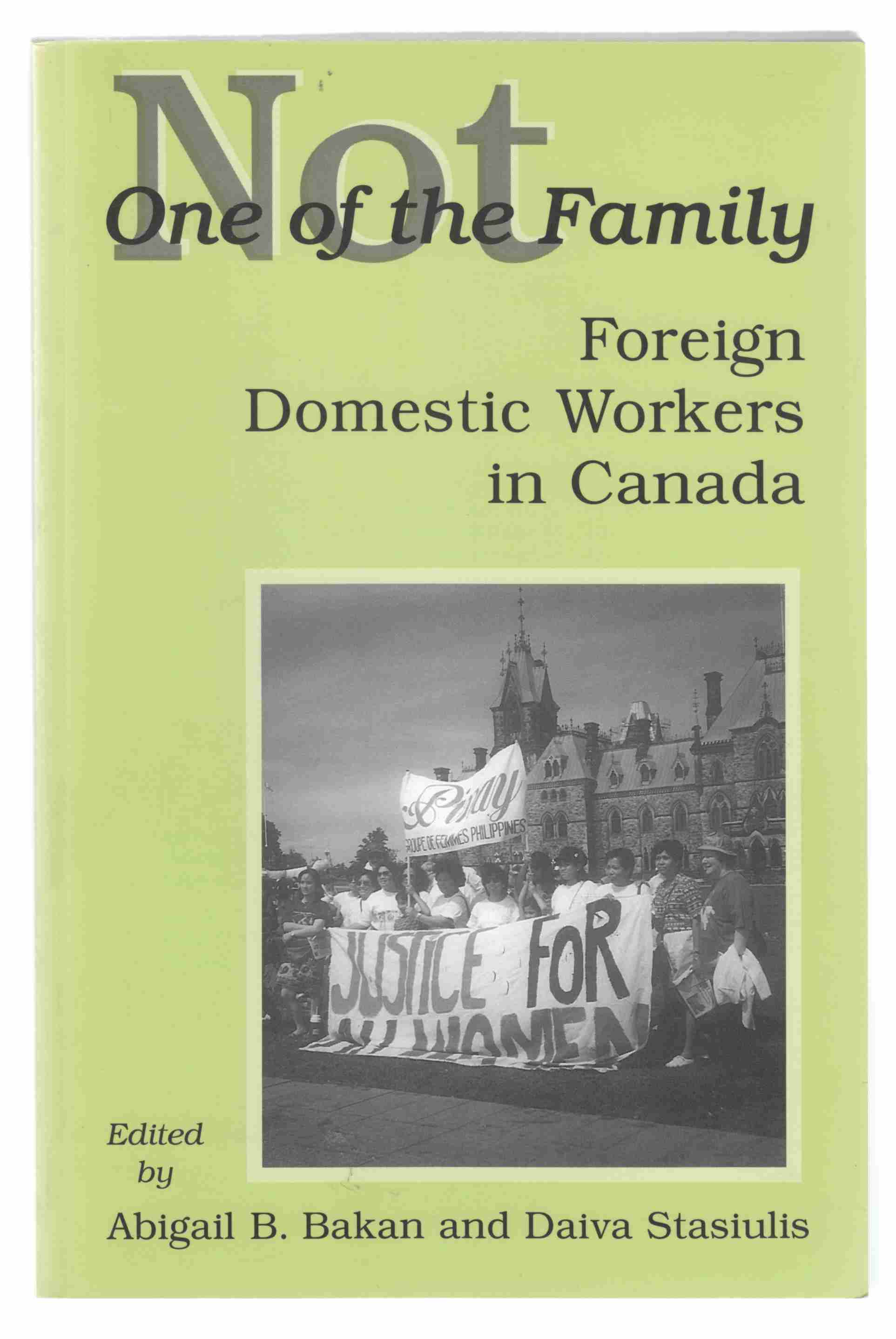 Image for Not One of the Family Foreign Domestic Workers in Canada