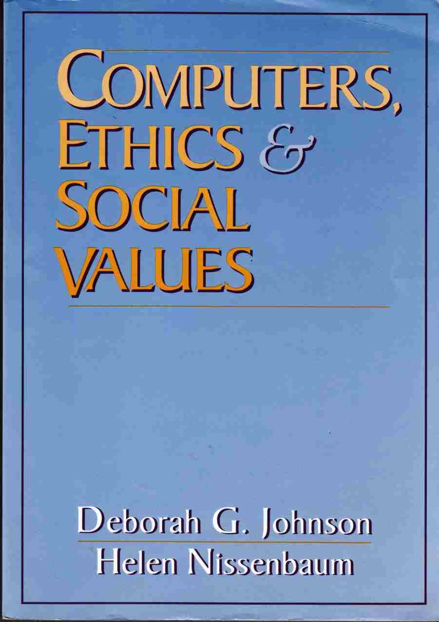 Image for Computers, Ethics & Social Values