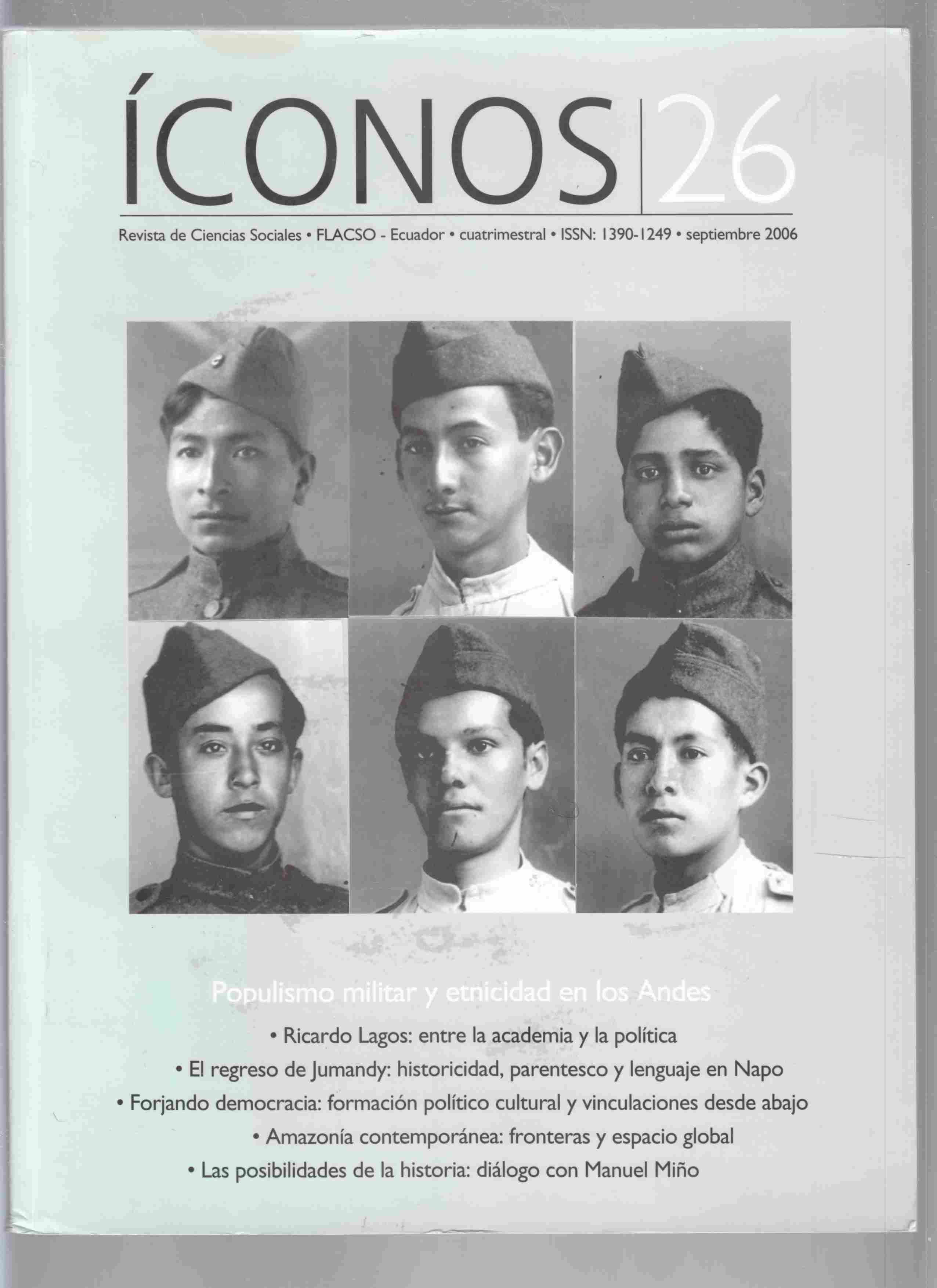 Image for Iconos Revista De Ciencias Sociales No. 26, Septembre 2006