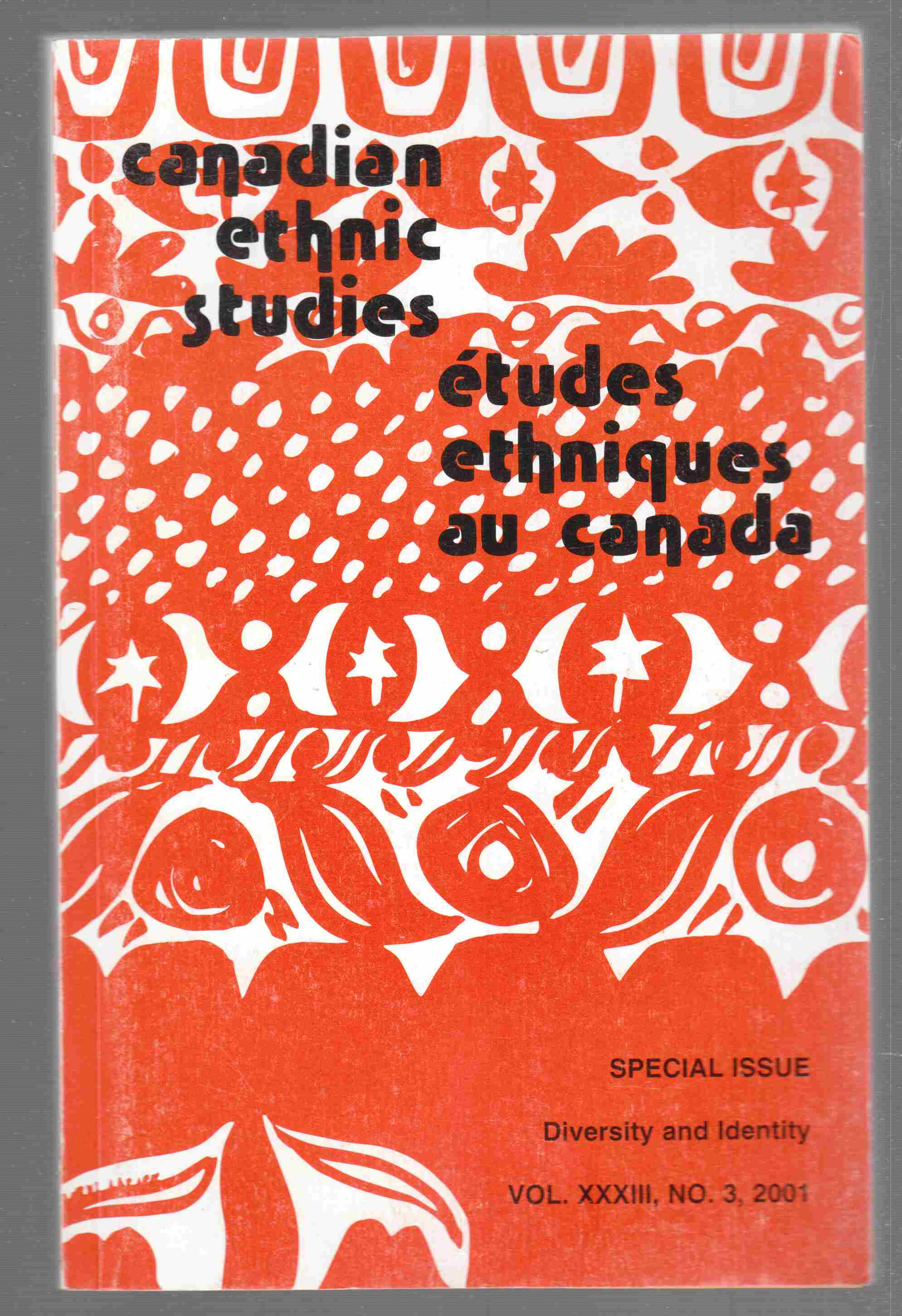 Image for Canadian Ethnic Studies-Special Issue-Diversity and Identity-Vol. XXXIII, No. 3, 2001.