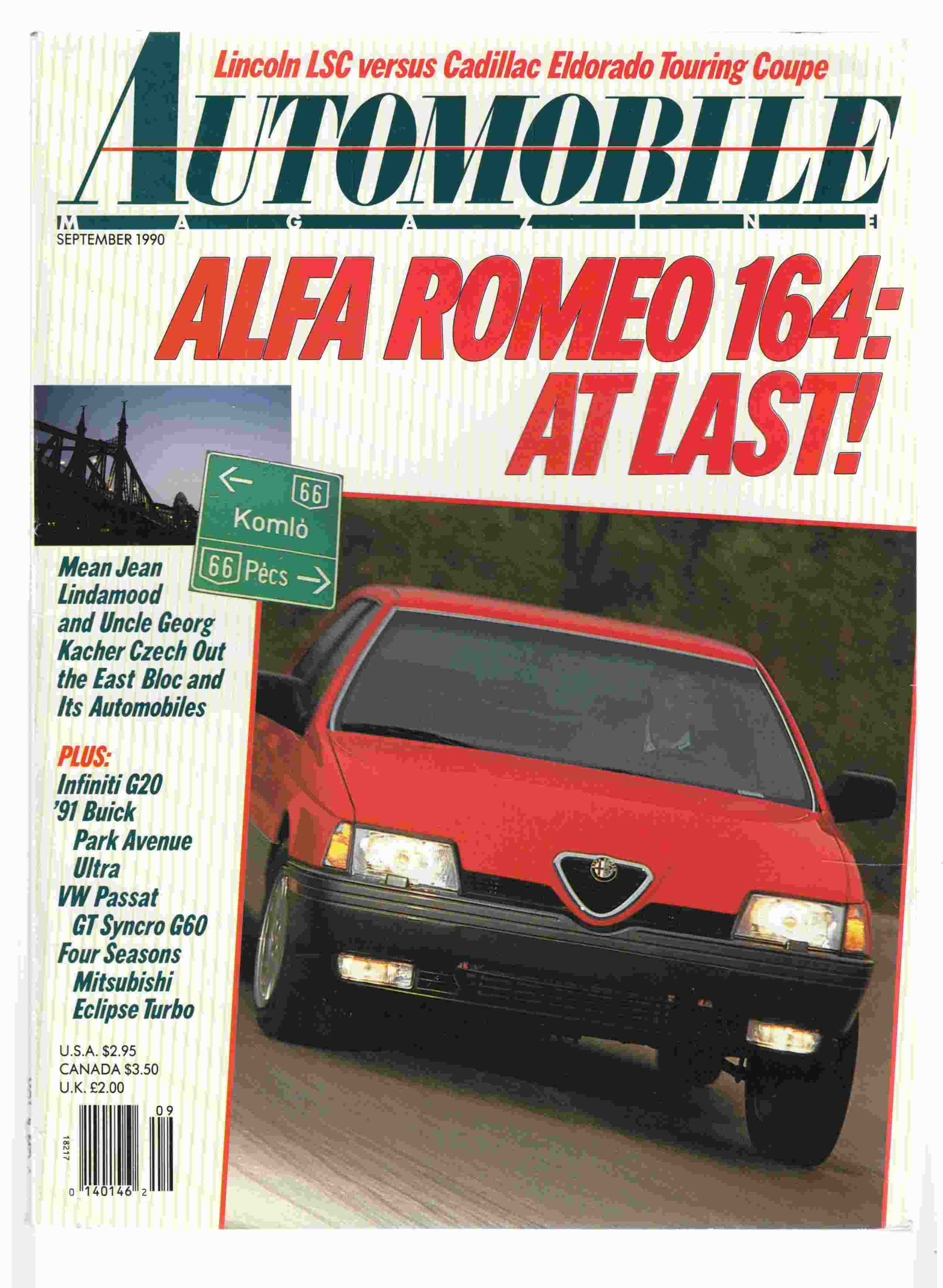 Image for Automobile Magazine September 1990 Vol. 5, No. 6
