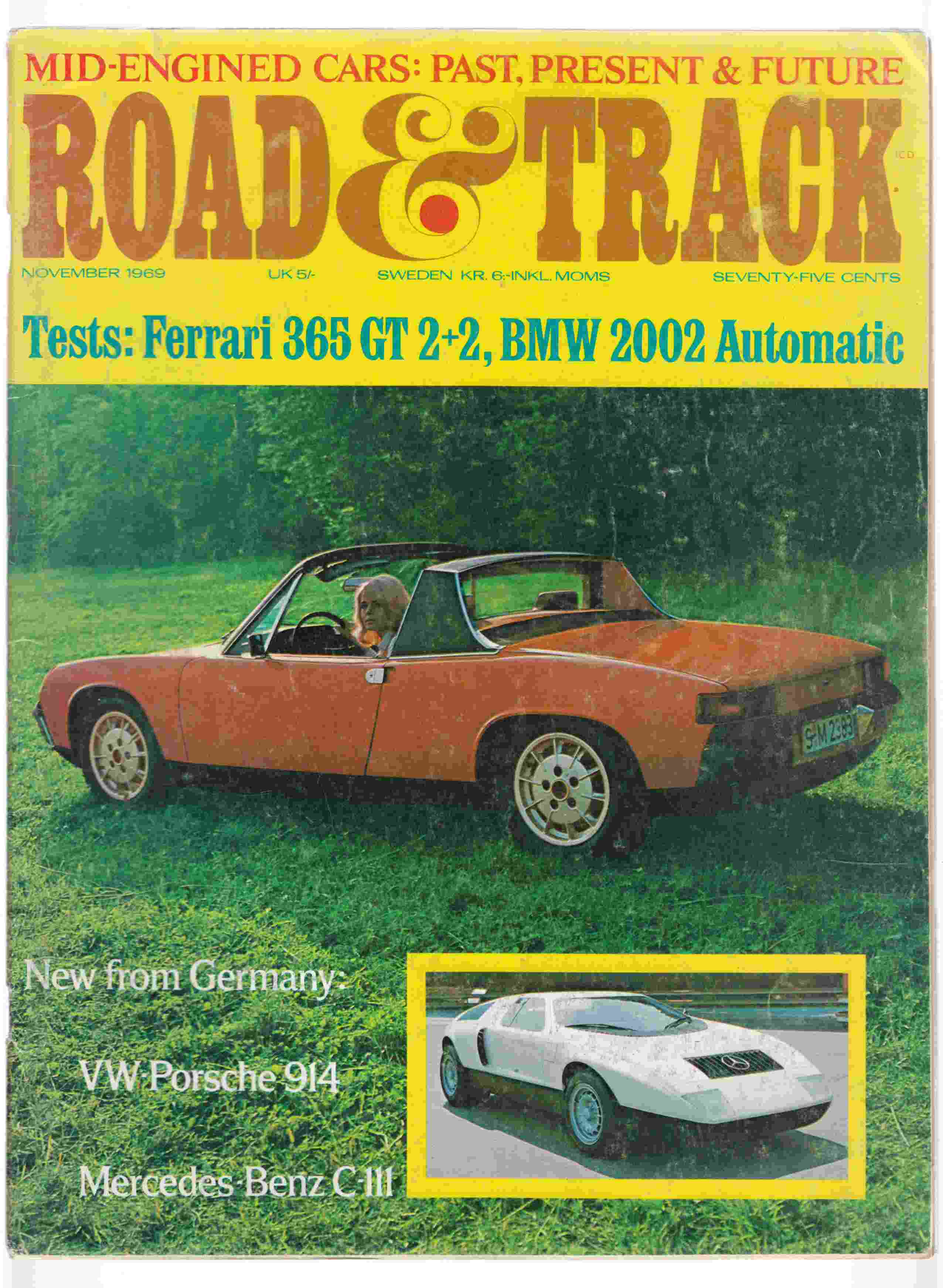 Image for Road & Track November 1969 Volume 21, Number 3