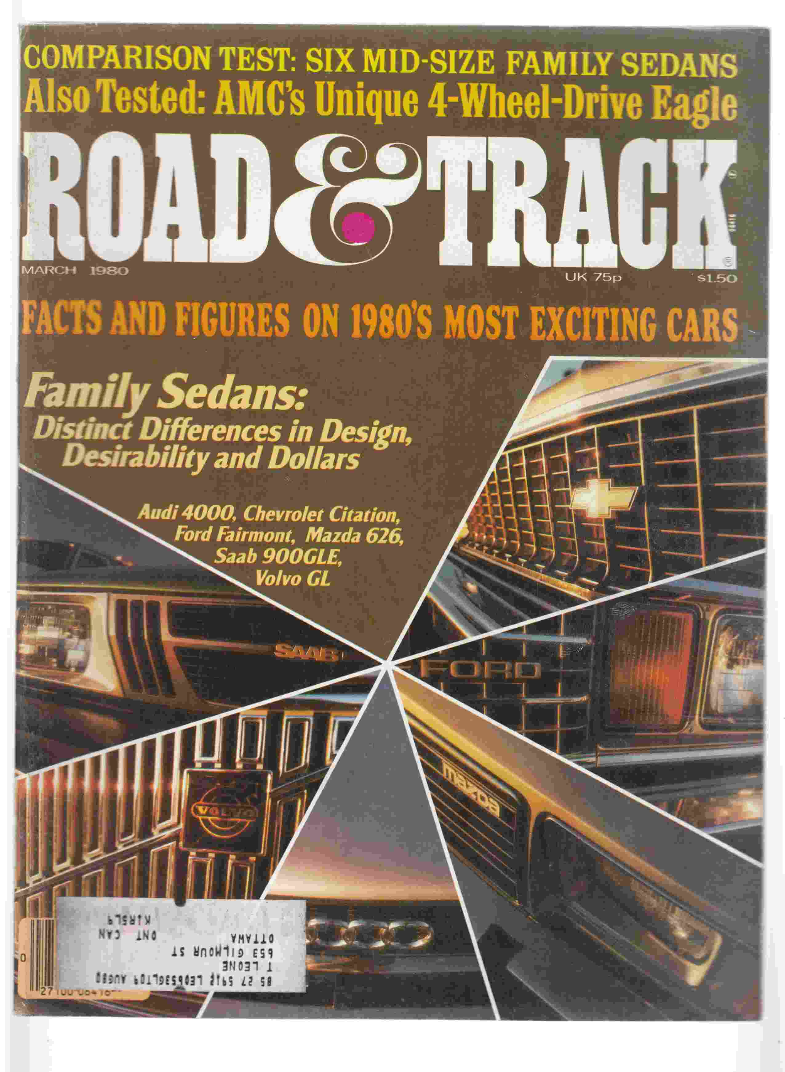 Image for Road & Track March 1980 Volume 31, Number 7