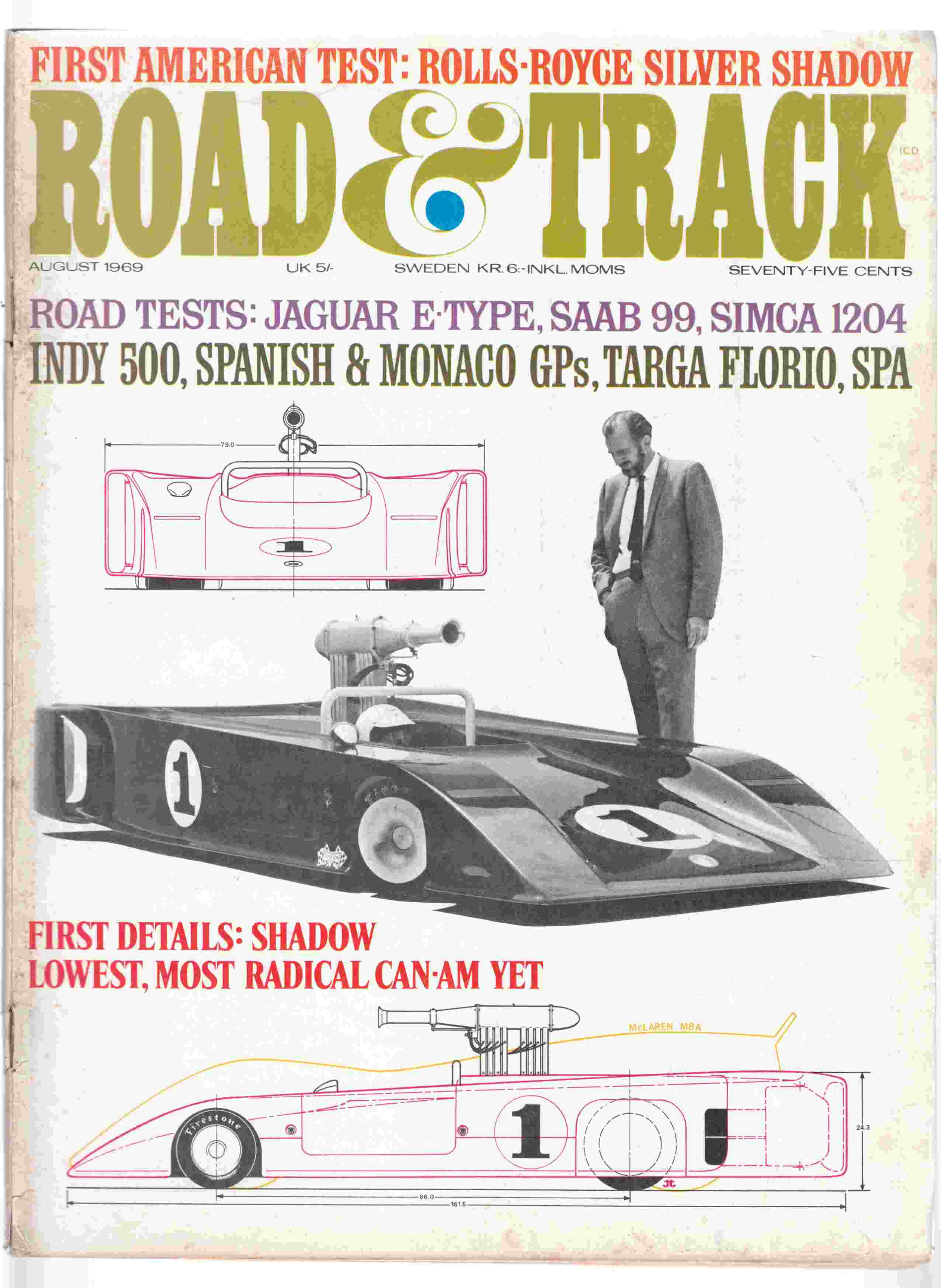 Image for Road & Track August 1969 Volume 20, Number 12
