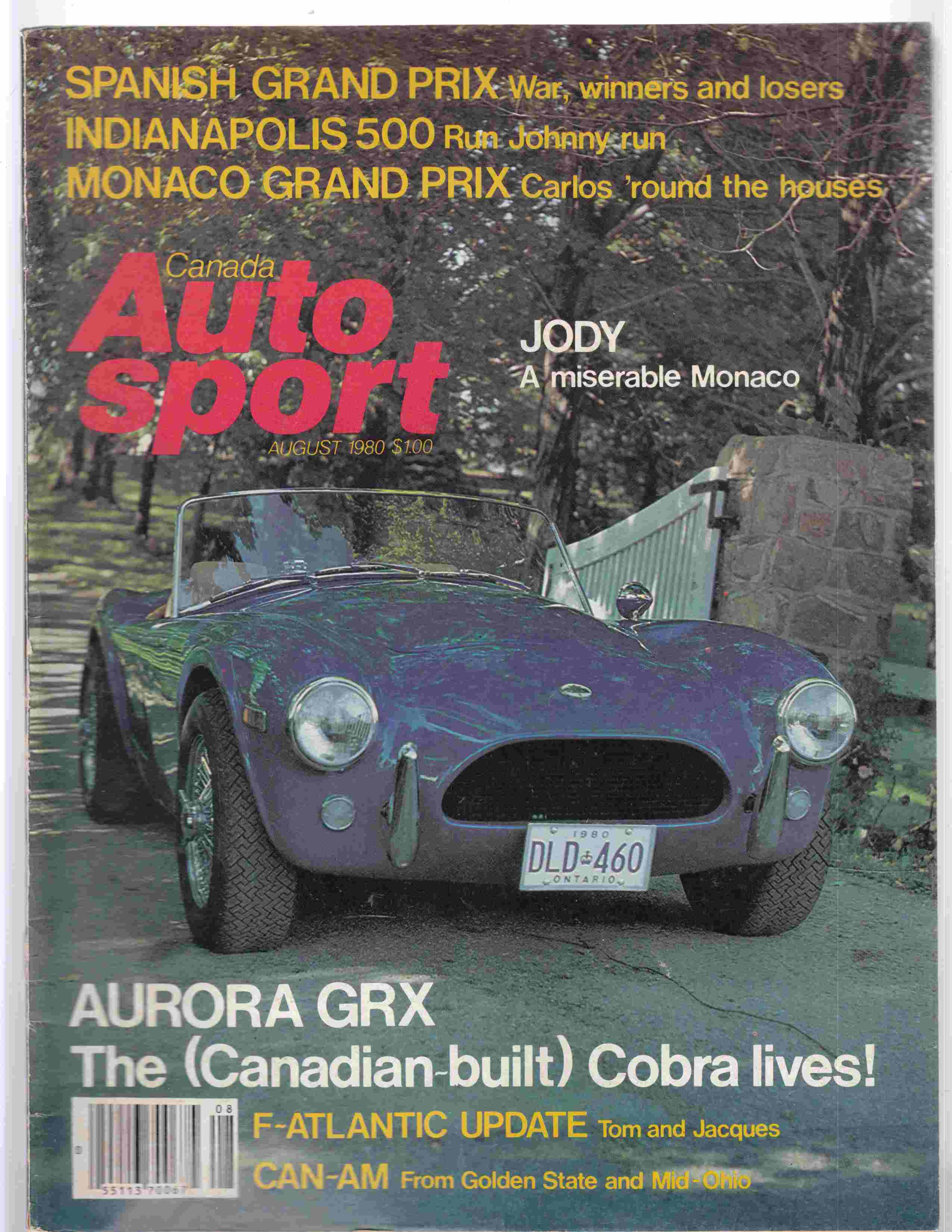 Image for Autosport Canada August 1980 Volume 6 Issue 6