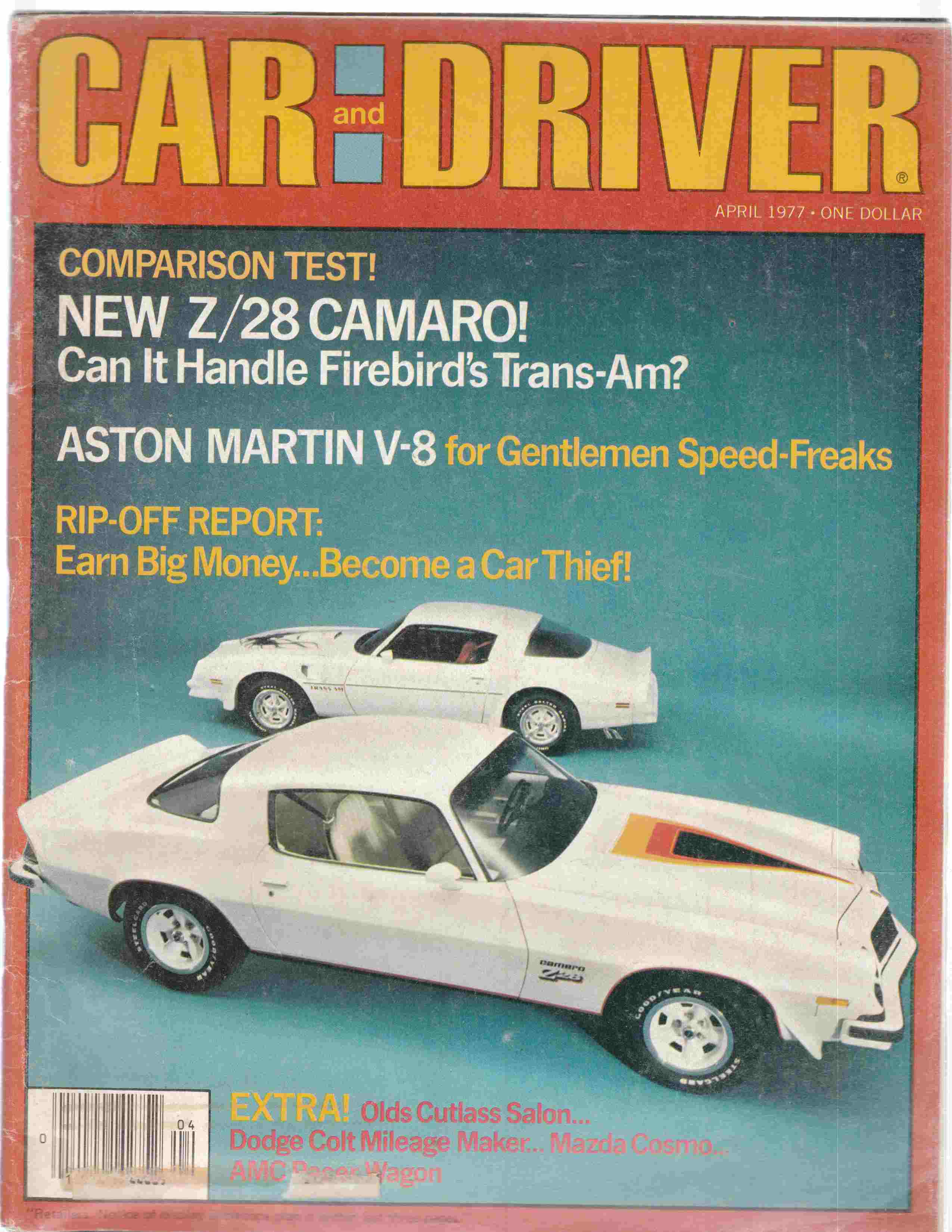 Image for Car and Driver April 1977 Volume 22, Number 10