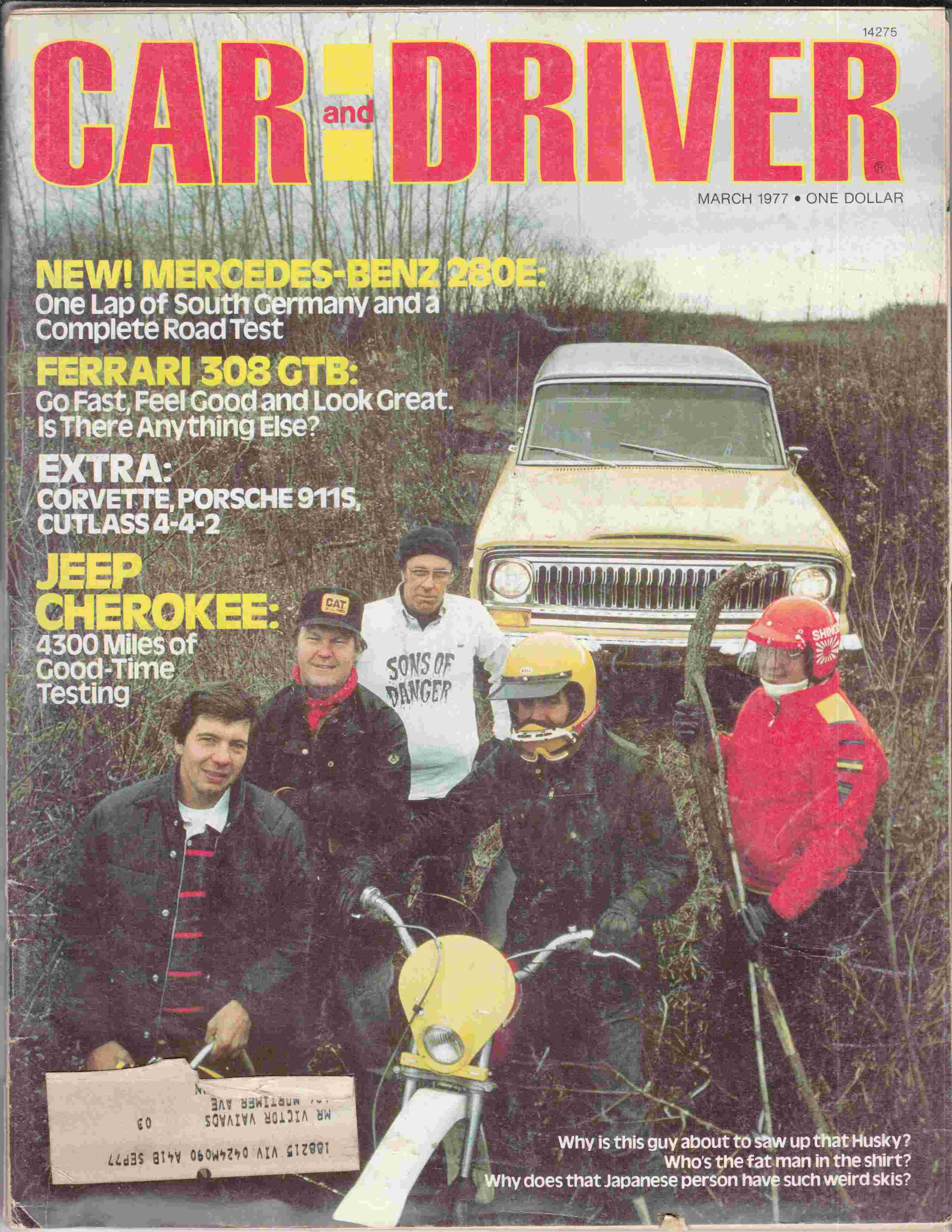 Image for Car and Driver March 1977 Volume 22, Number 9