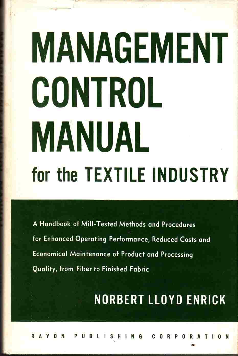 Image for Management Control Manual for the Textile Industry