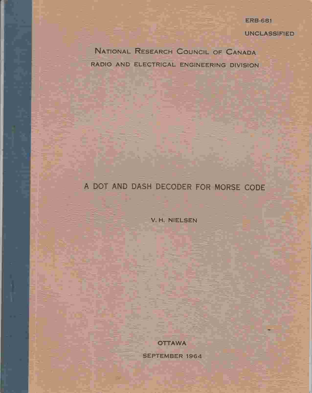 Image for A Dot and Dash Recorder for Morse Code