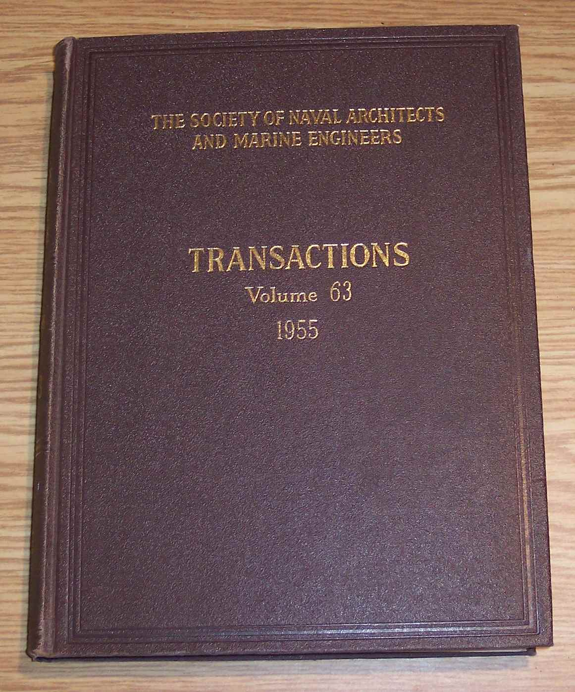 Image for The Society of Naval Architects and Marine Engineers Transactions Volume 63 1955