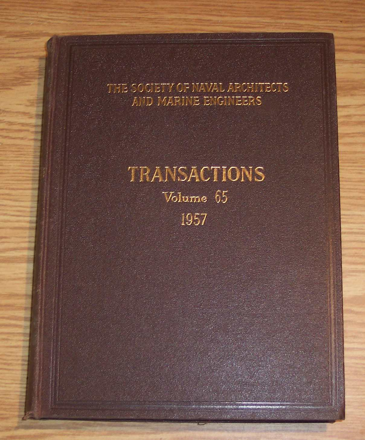 Image for The Society of Naval Architects and Marine Engineers Transactions Volume 65 1957