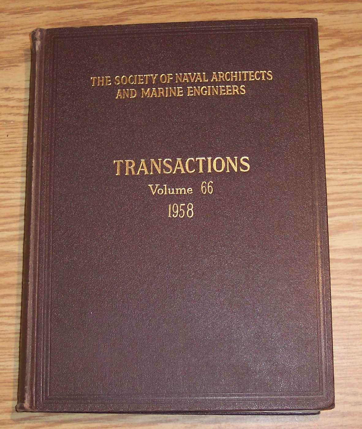 Image for The Society of Naval Architects and Marine Engineers Transactions Volume 66 1958