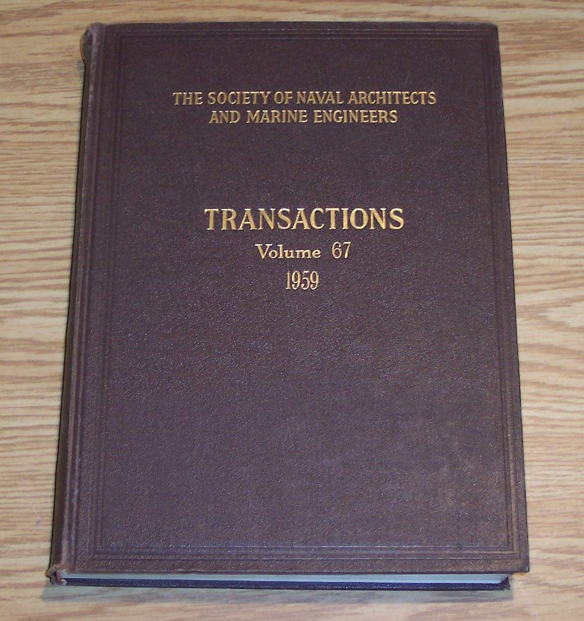 Image for The Society of Naval Architects and Marine Engineers Transactions Volume 67 1959