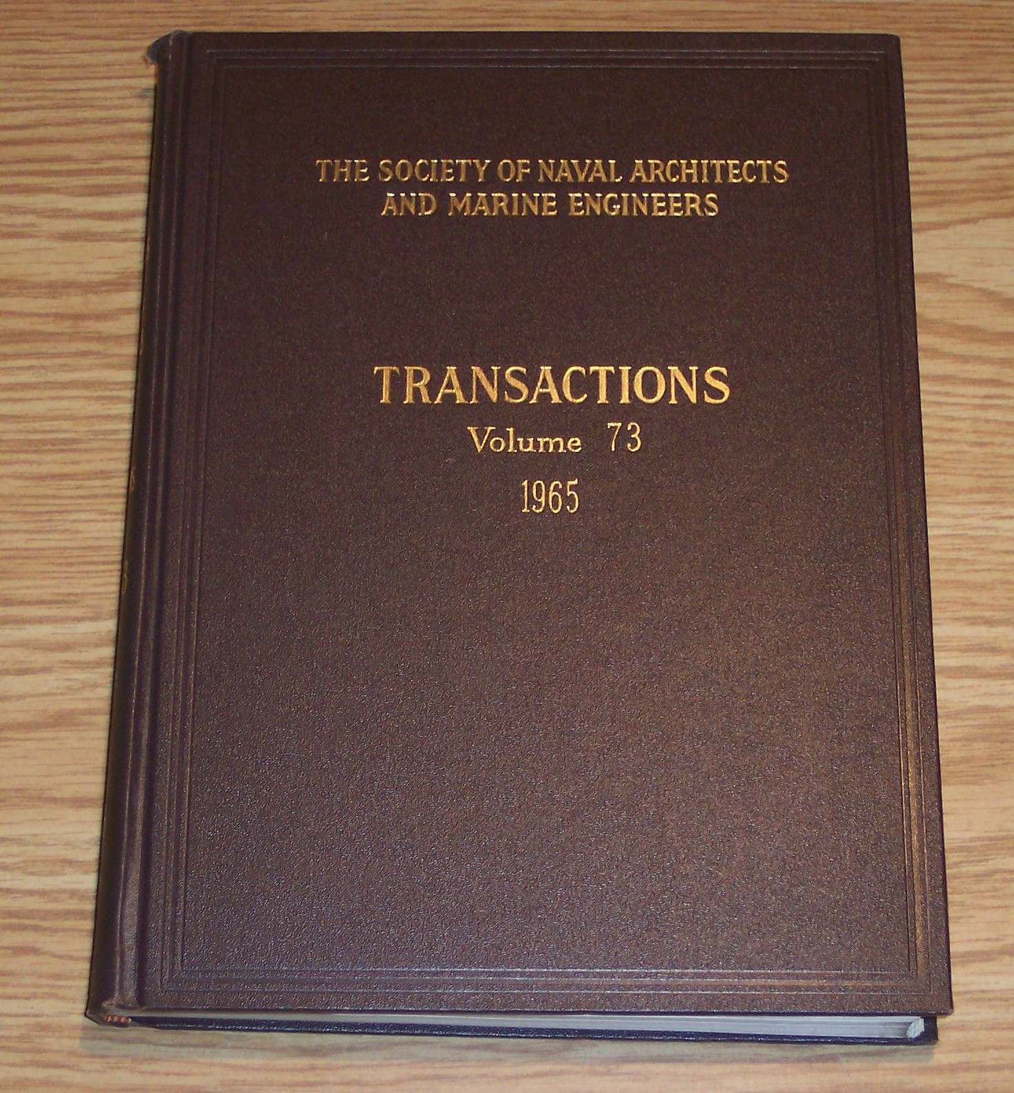 Image for The Society of Naval Architects and Marine Engineers Transactions Volume 73 1965