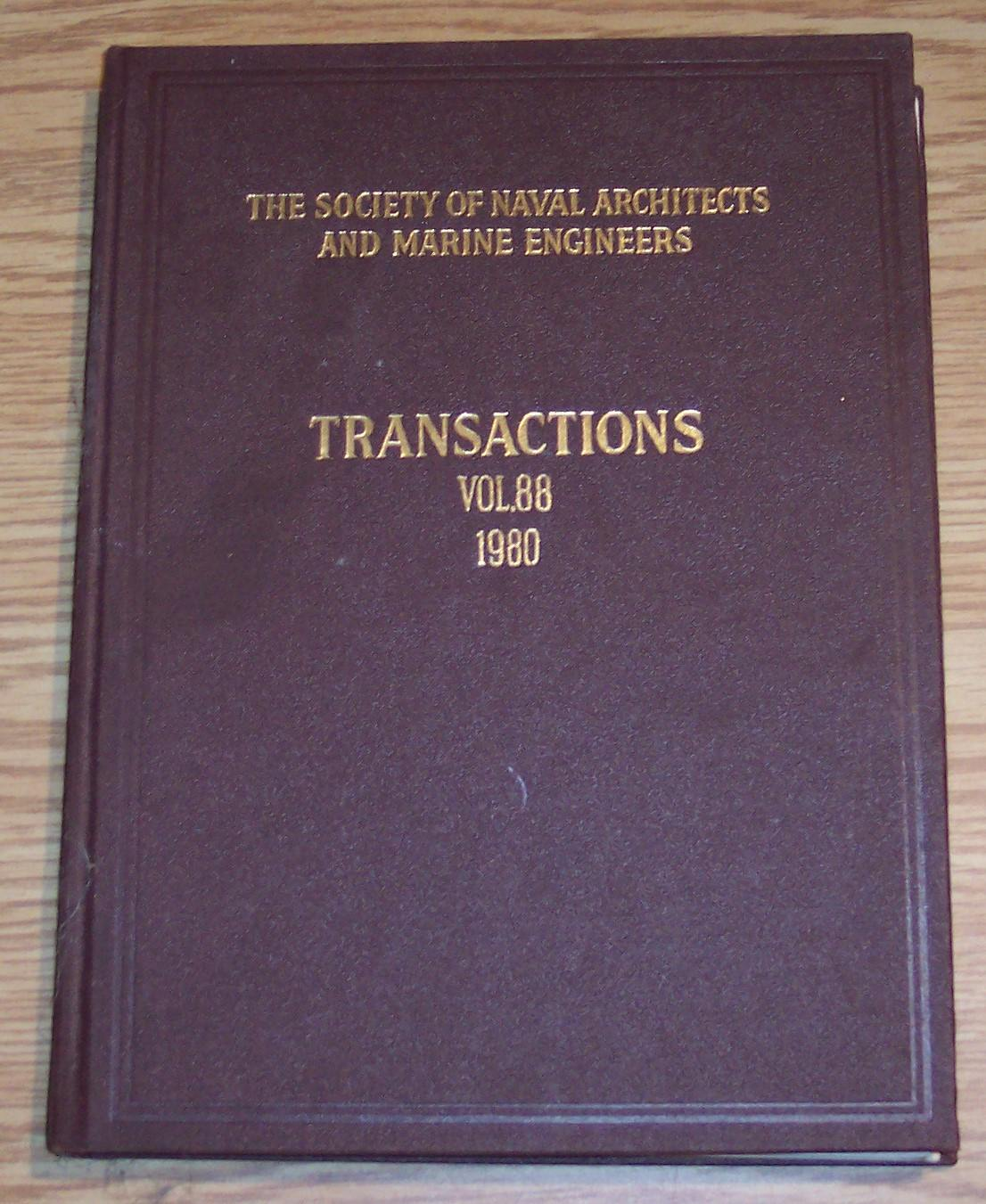 Image for The Society of Naval Architects and Marine Engineers Transactions Volume 88 1980