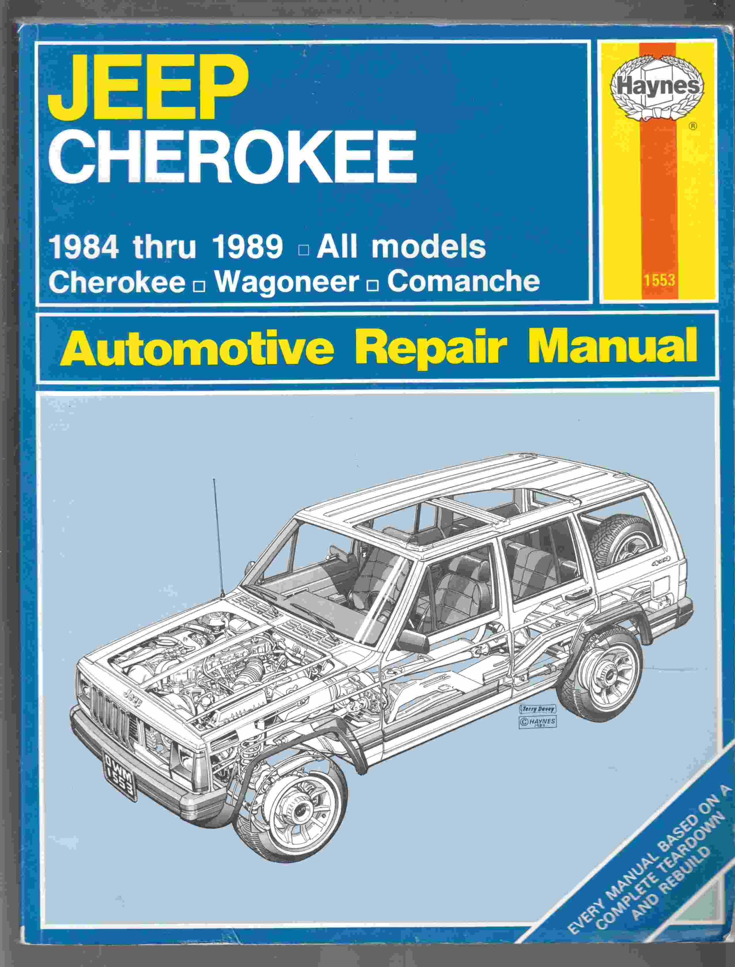 Image for Jeep Cherokee & Comanche Automotive Repair Manual 1984 Thru 1989